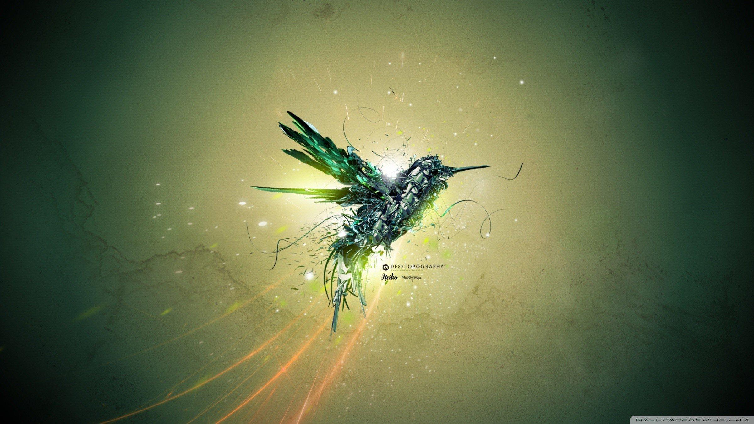 Wallpaper 2400x1350 Px Colibri Bird Desktopography 2400x1350