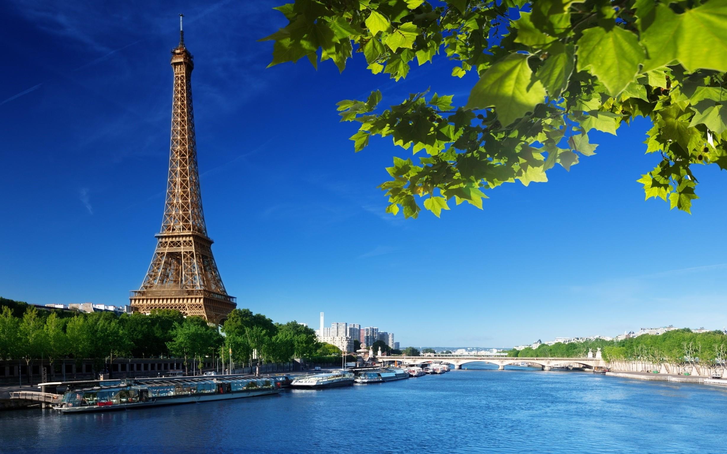 Wallpaper 2457x1536 Px Eiffel Tower Paris River