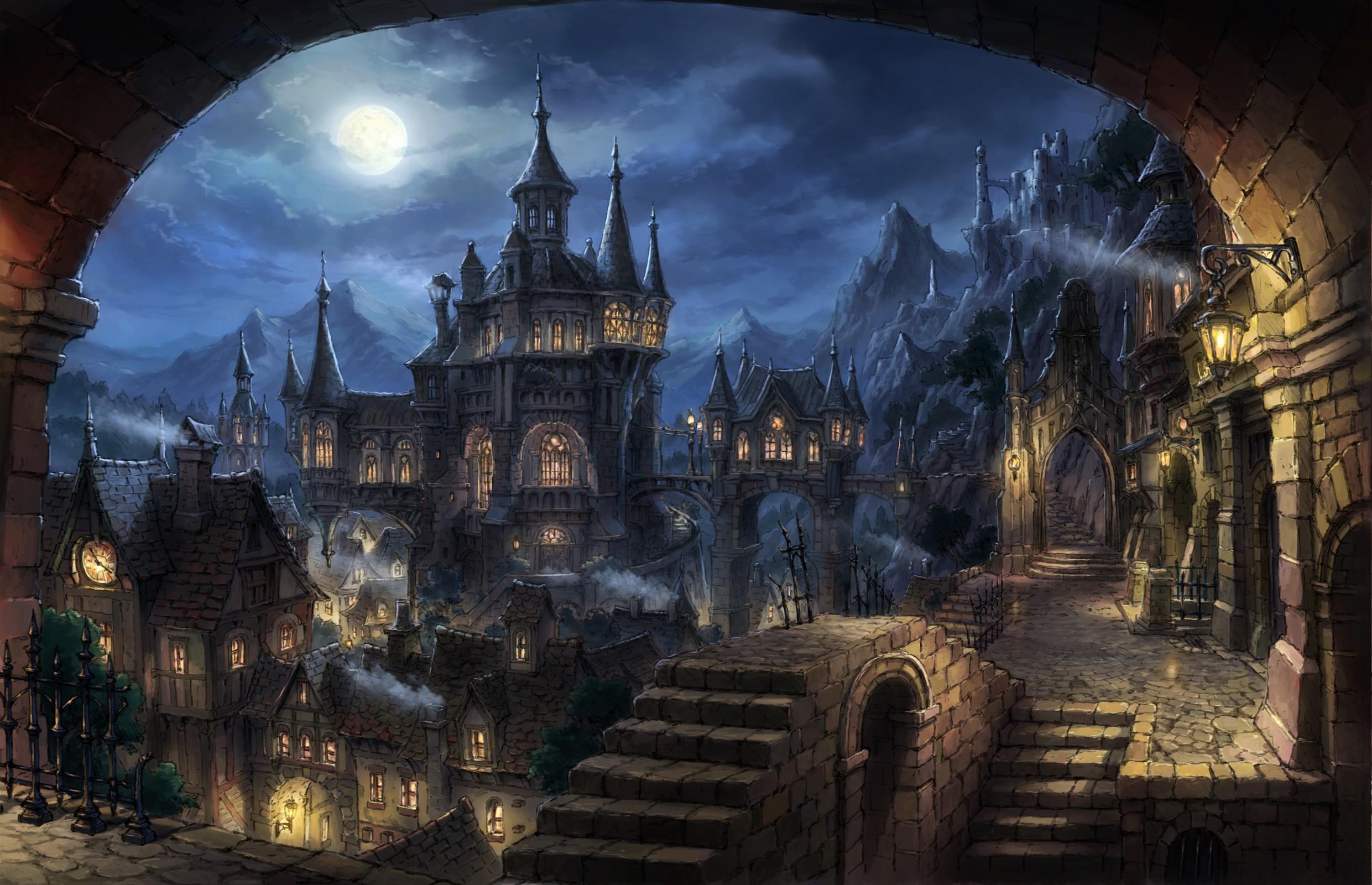Fond d'écran : 2481x1600 px, Paysage urbain, Fantasme sombre, Art fantastique 2481x1600 - wallup ...