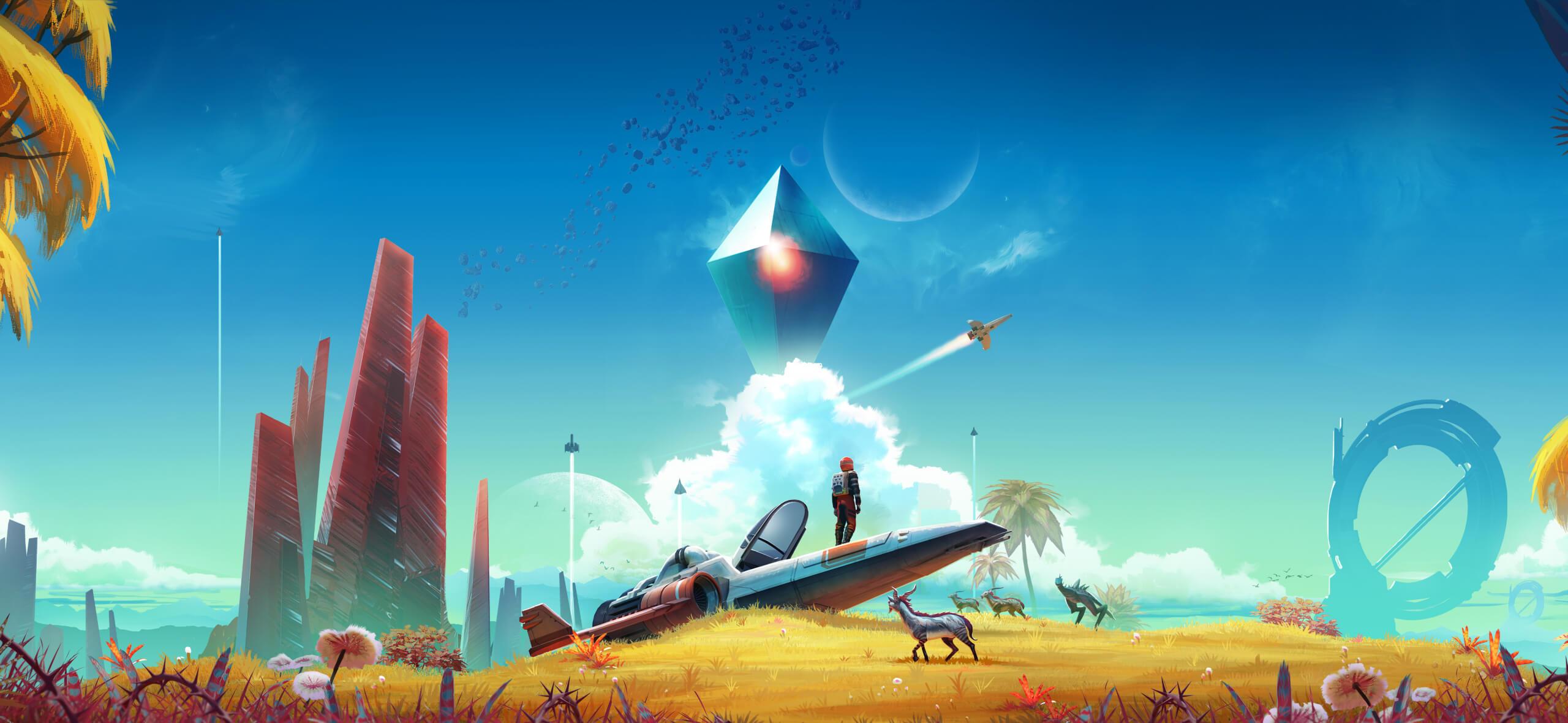 Wallpaper 2560x1180 Px No Mans Sky Pc Gaming Spaceship