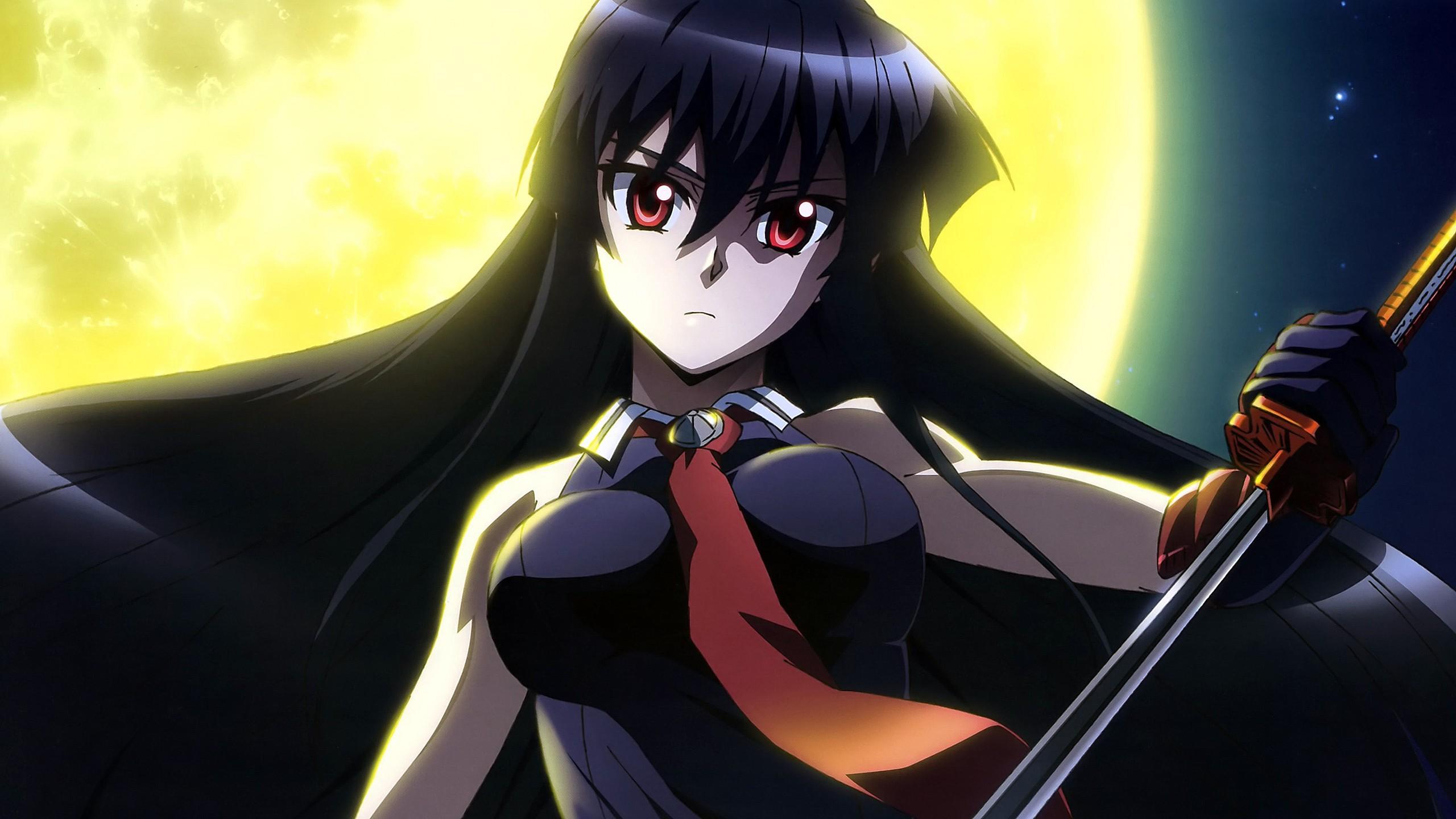 Wallpaper 2560x1440 Px Akame Ga Kill Anime Girls Red