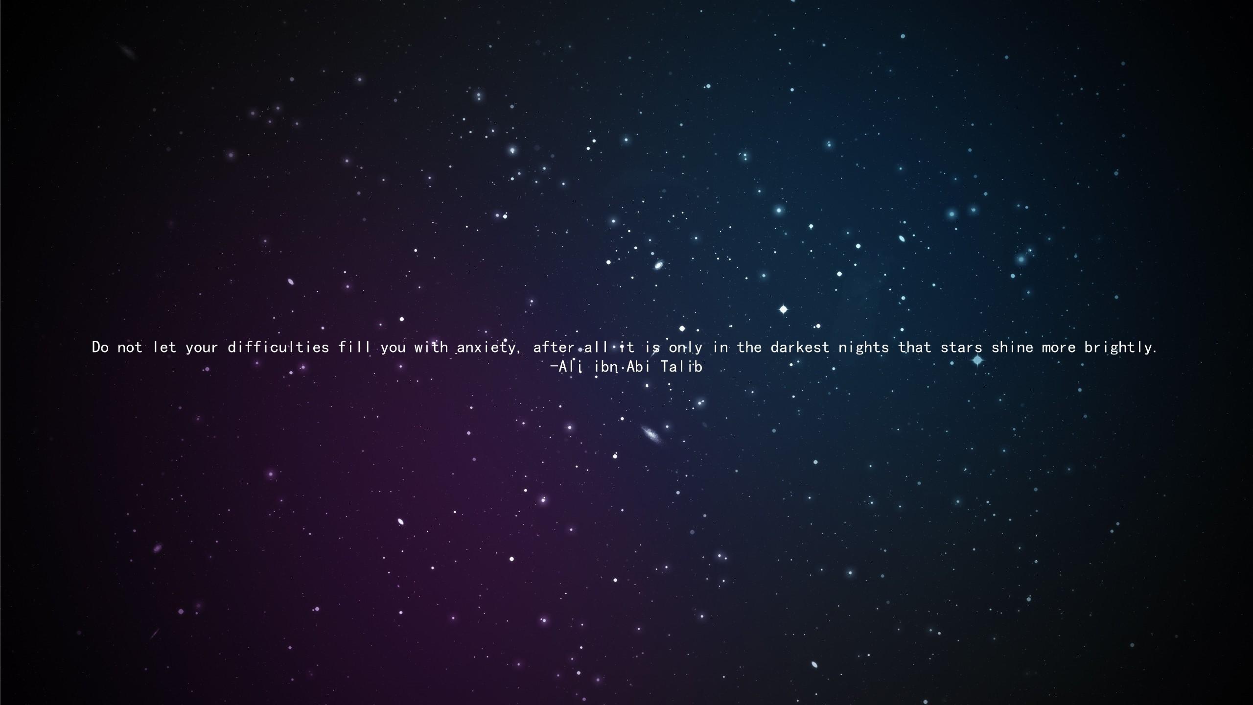 Wallpaper 2560x1440 Px Ali Ibn Abi Talib Imam Islam Quote Space Stars 2560x1440 Goodfon 656150 Hd Wallpapers Wallhere