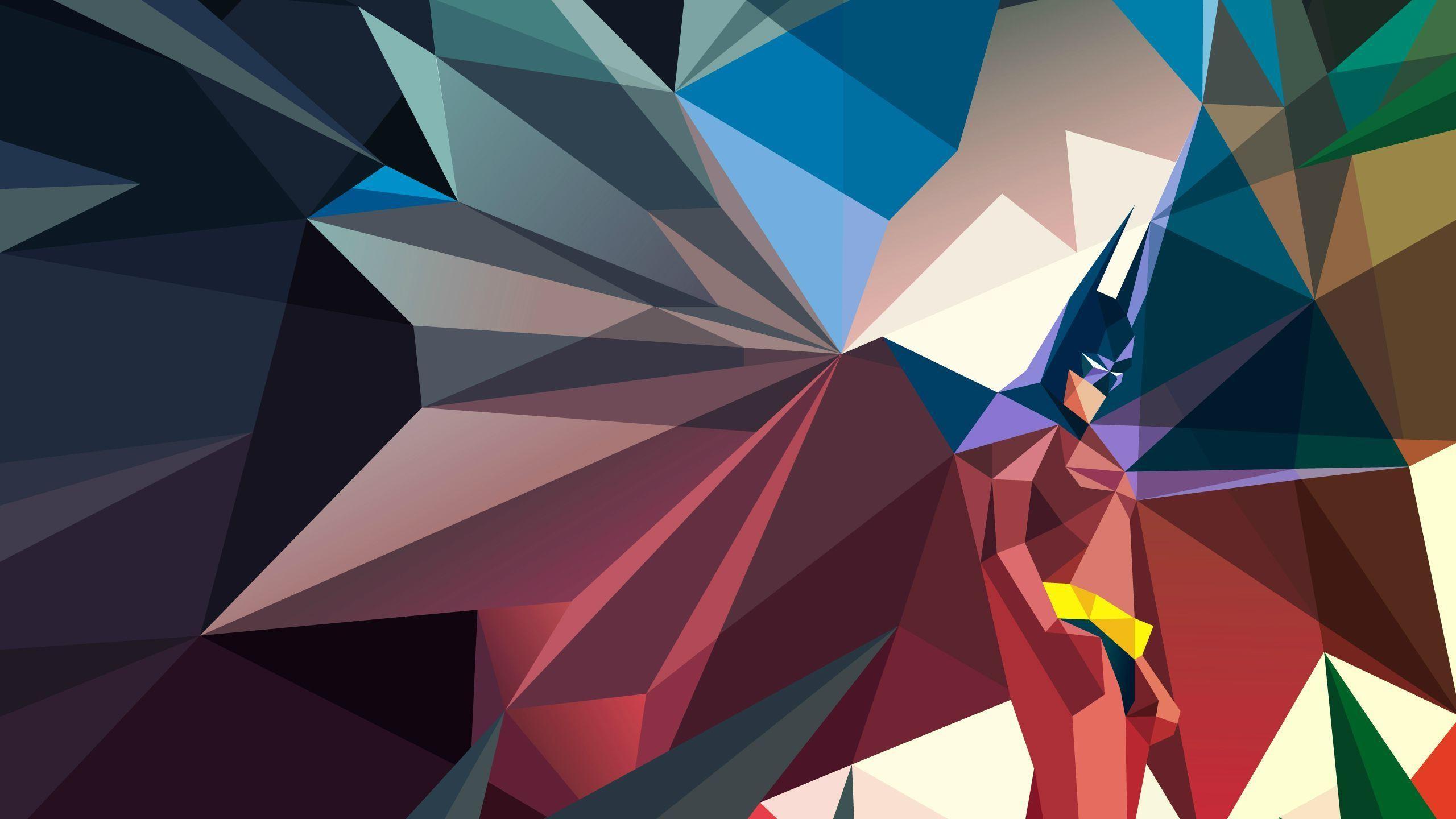 2560x1440 px Batman comics low poly