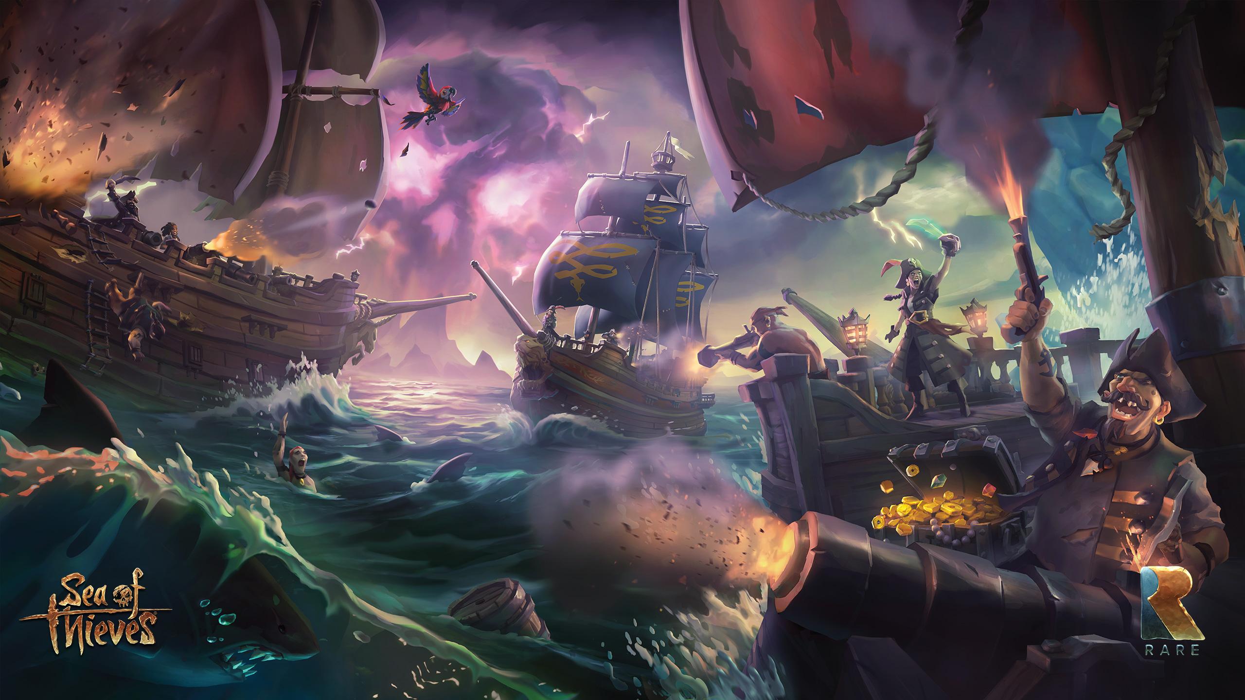 Fond Décran 2560x1440 Px Bataille Navale Sea Of Thieves