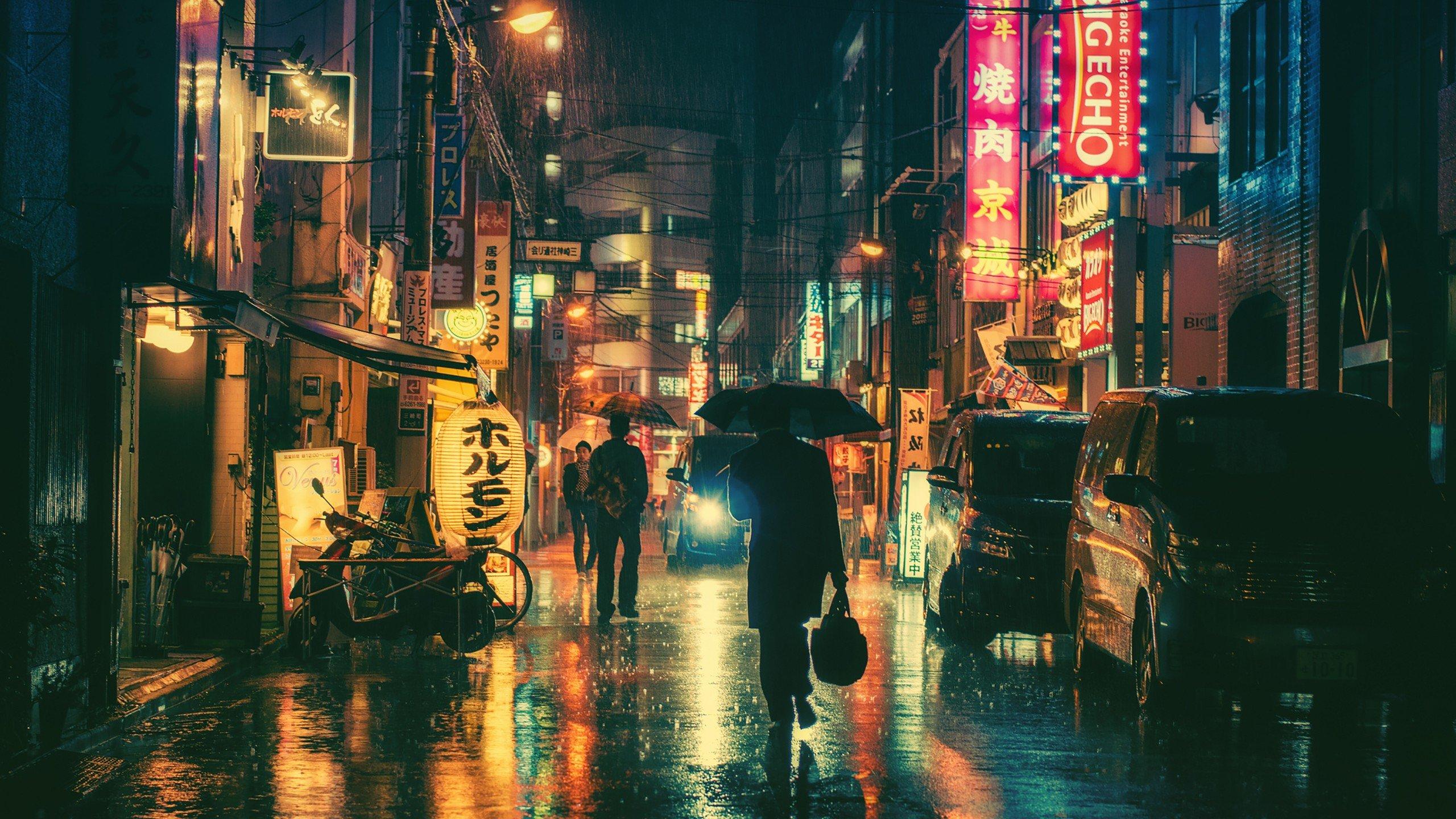 Fond Décran 2560x1440 Px Japon Nuit 2560x1440