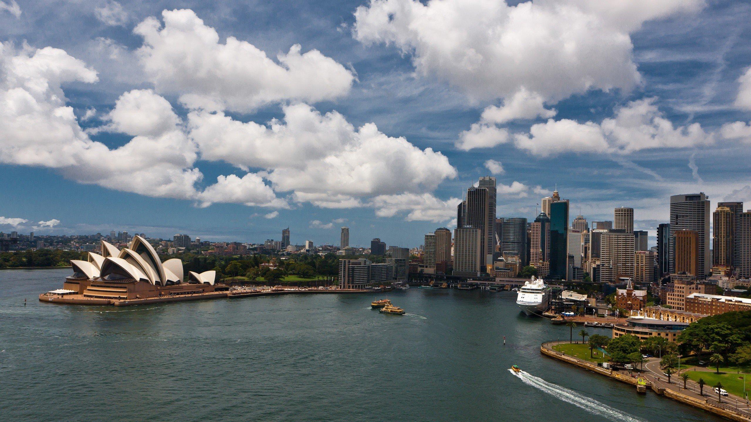 2560x1440 px Sydney Sydney Harbour Sydney Opera House