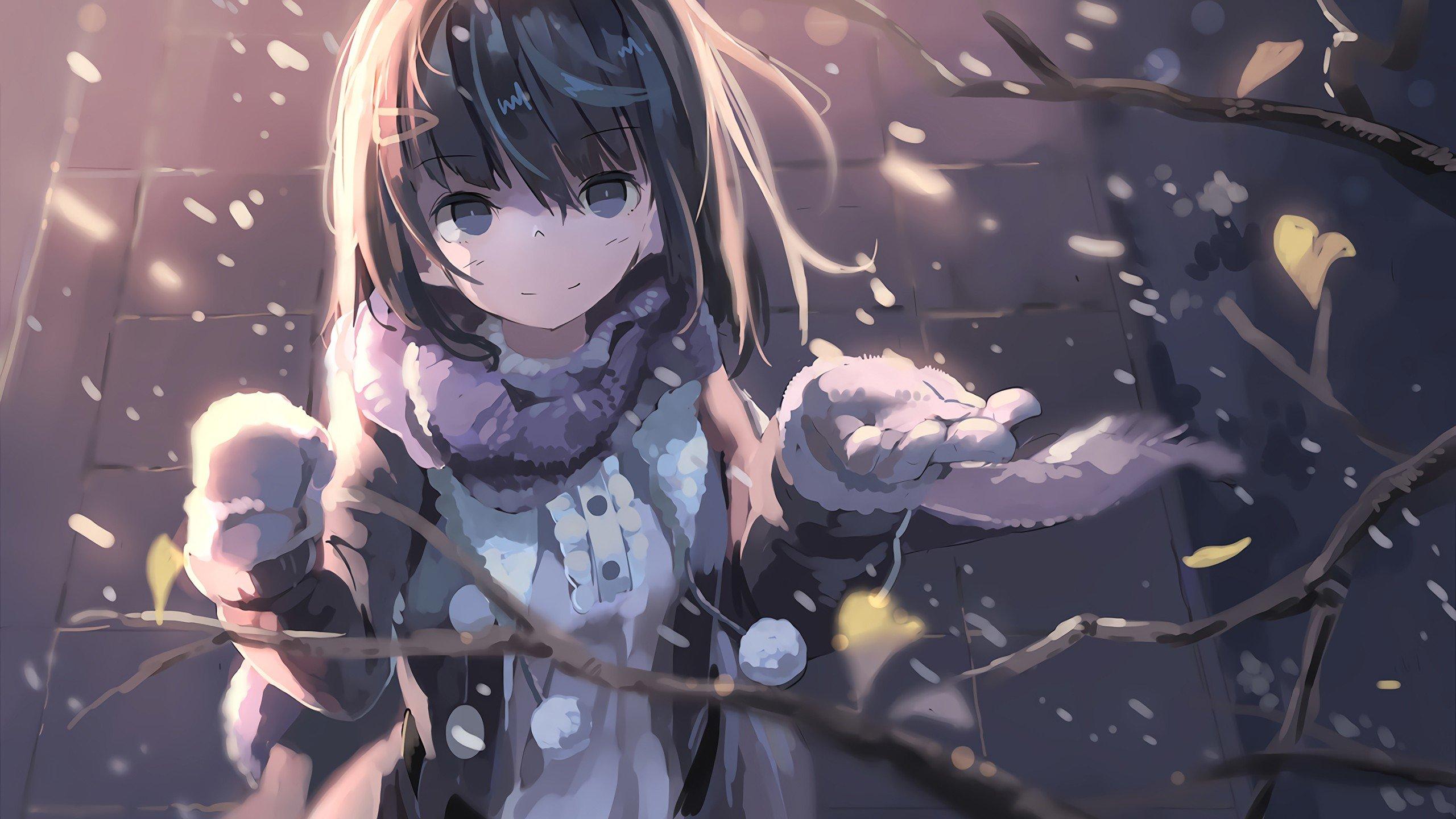 Wallpaper 2560x1440 Px Anime Girls Original Characters Winter
