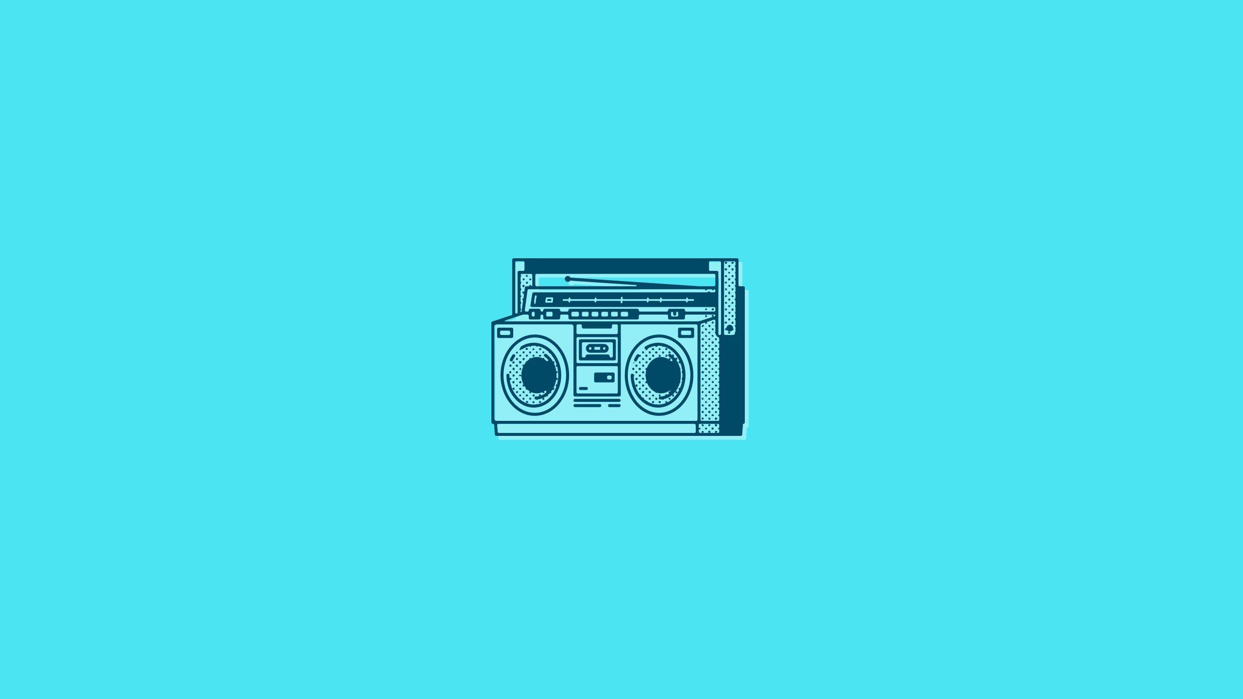 wallpaper 2560x1440 px antenna blue background boombox