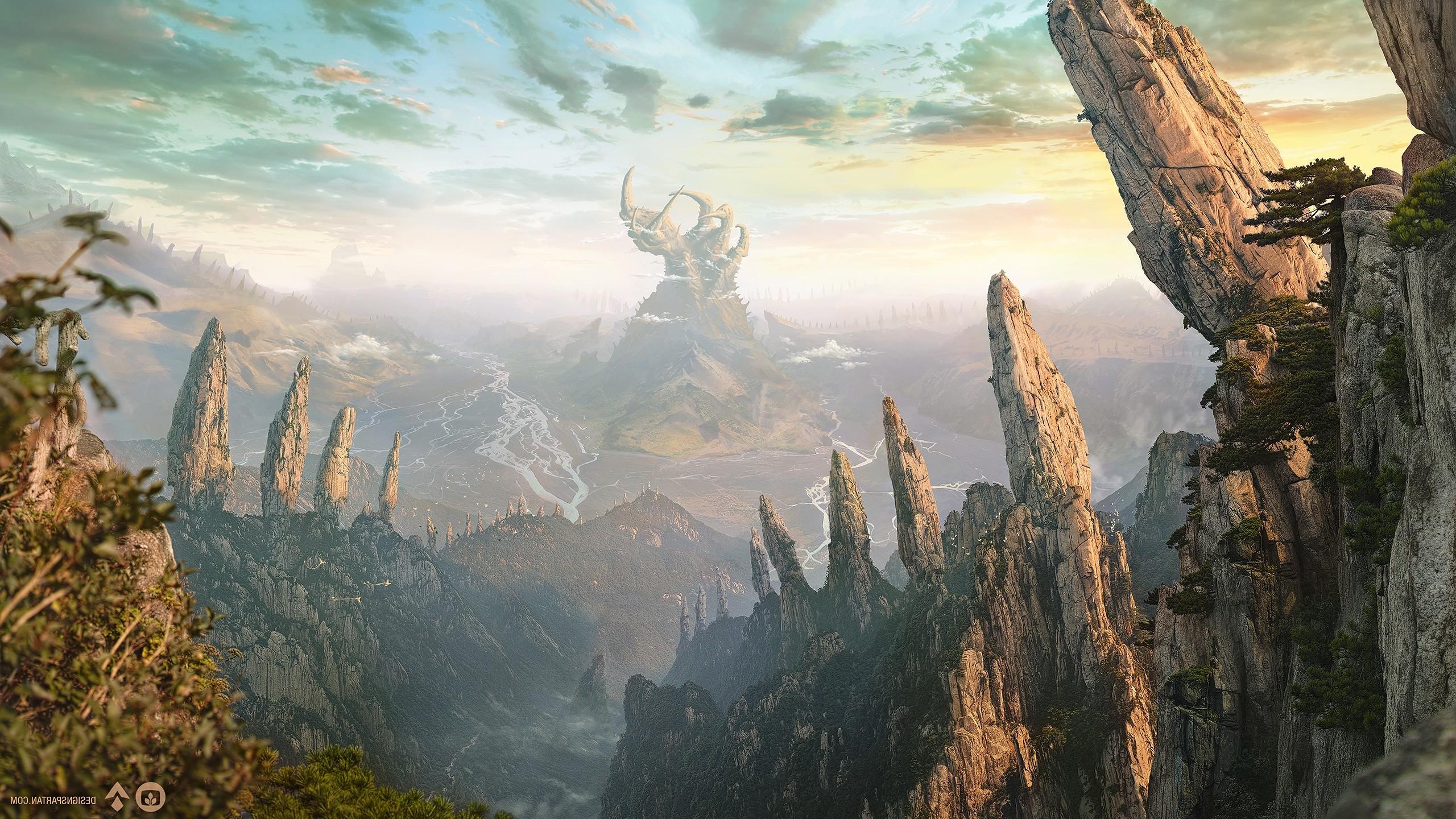 Wonderful Wallpaper Mountain Fantasy - 2560x1440-px-artwork-digital-art-fantasy-art-landscape-mountain-nature-1104732  Collection_88269.jpg