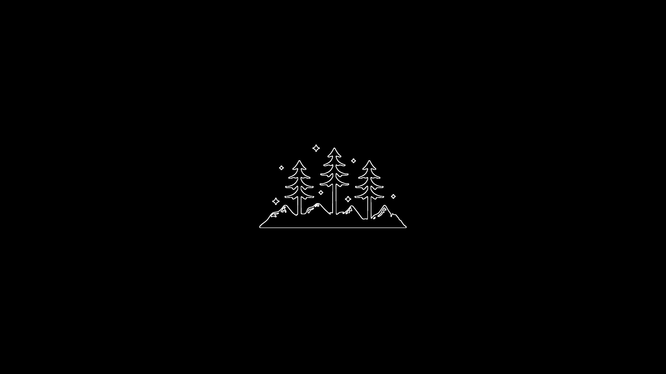 Fond Décran 2560x1440 Px Fond Noir Minimalisme Simple