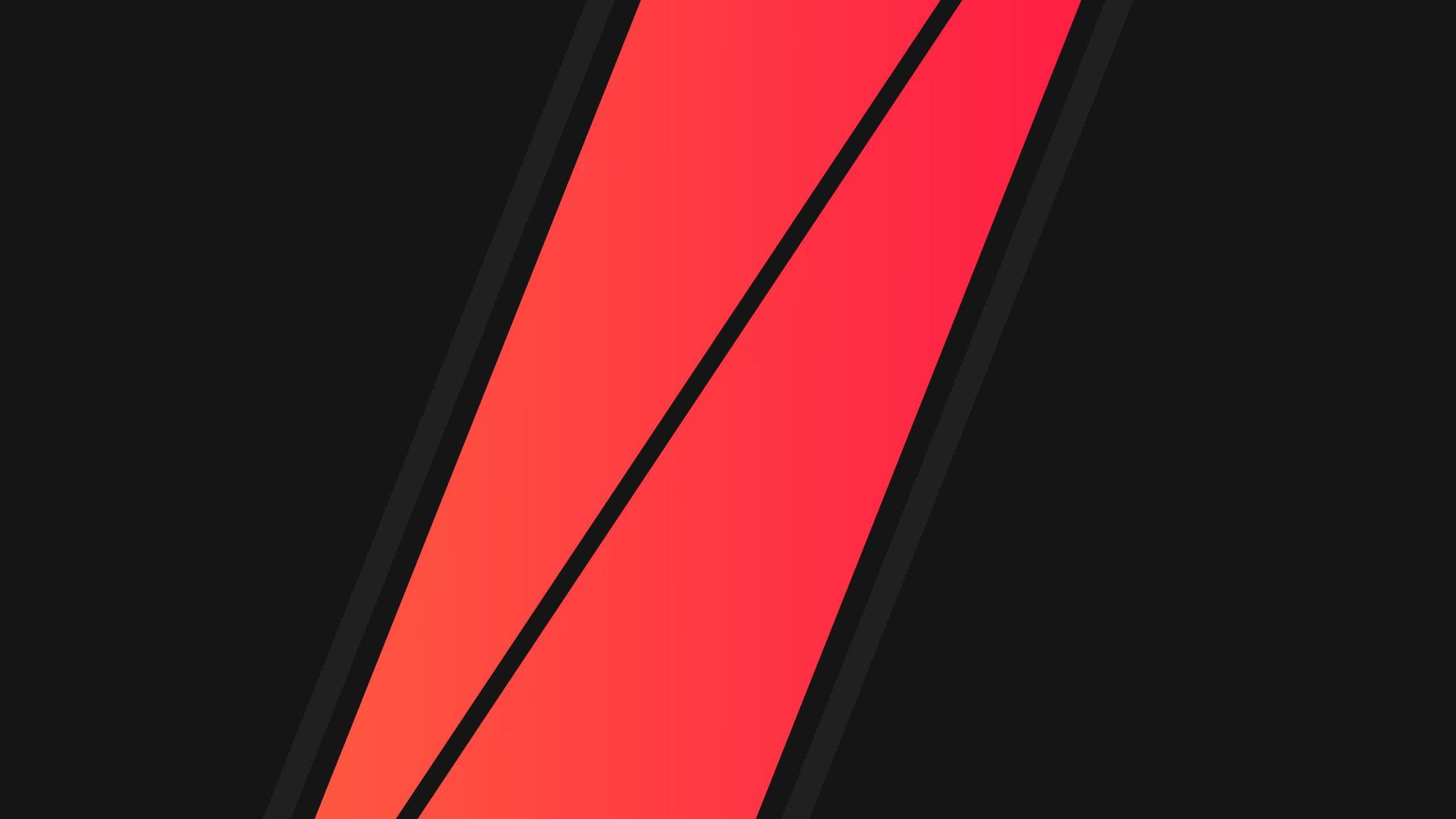 Wallpaper : 2560x1440 px, black, minimalism, red, vector ...