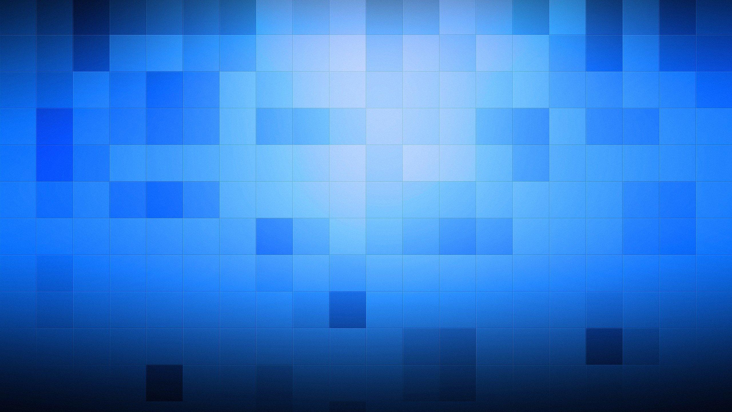 Wallpaper 2560x1440 Px Blue Minimalism Pixels Square