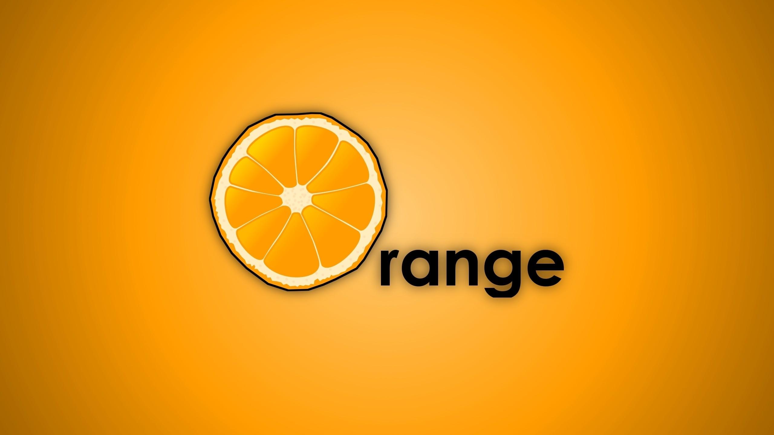 2560x1440 px fruits orange oranges simplistic yellow 1712451