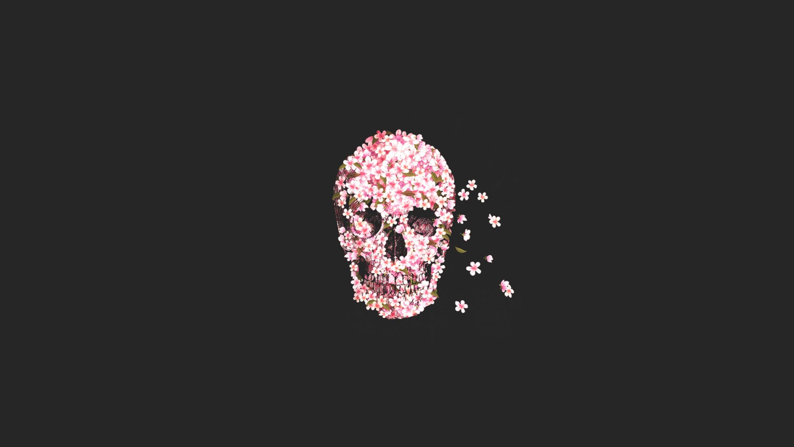 Wallpaper 2560x1440 Px Rose Skull Sugar Skull 2560x1440