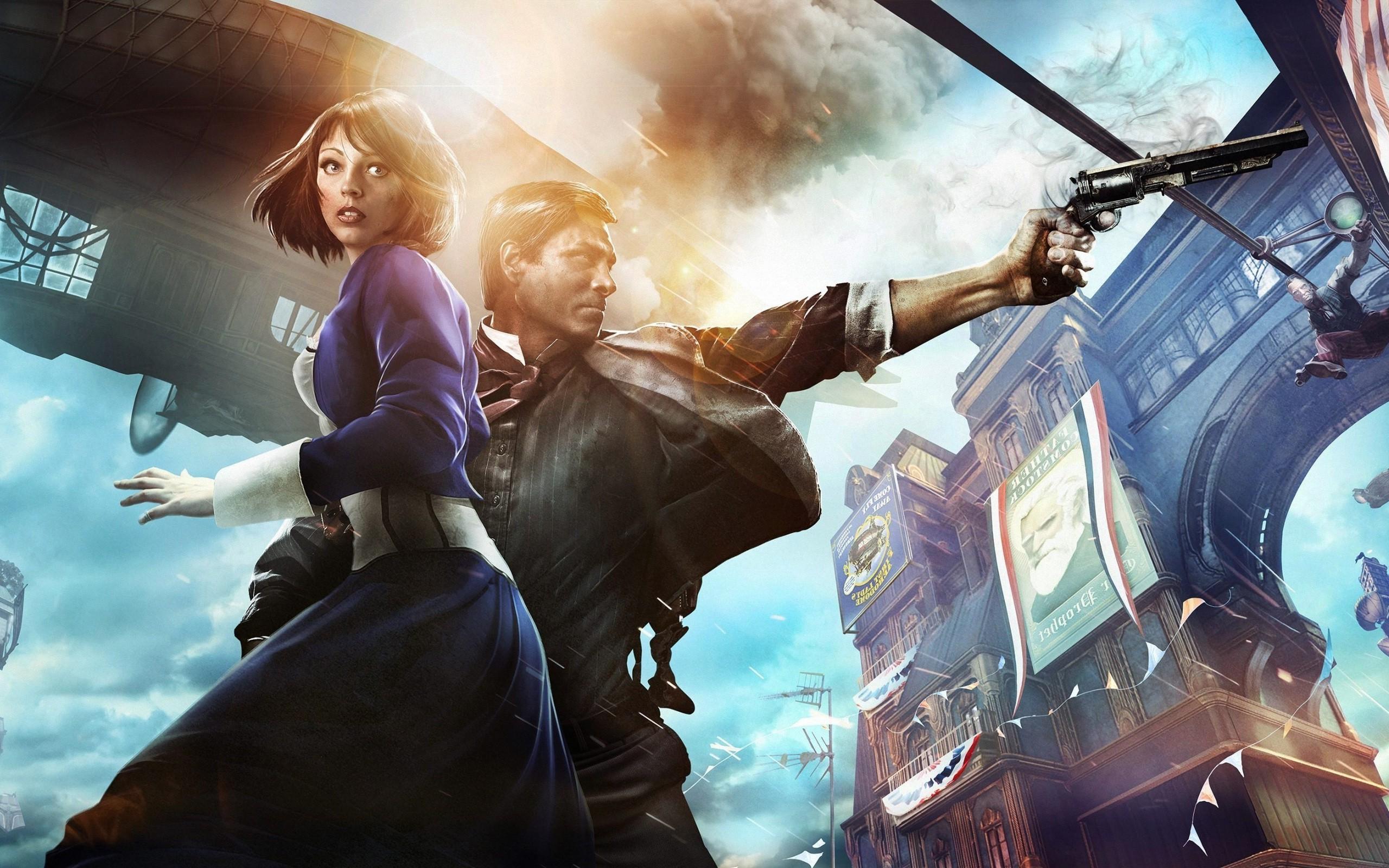 2560x1600 Px BioShock Infinite Booker DeWitt Elizabeth Fantasy Art