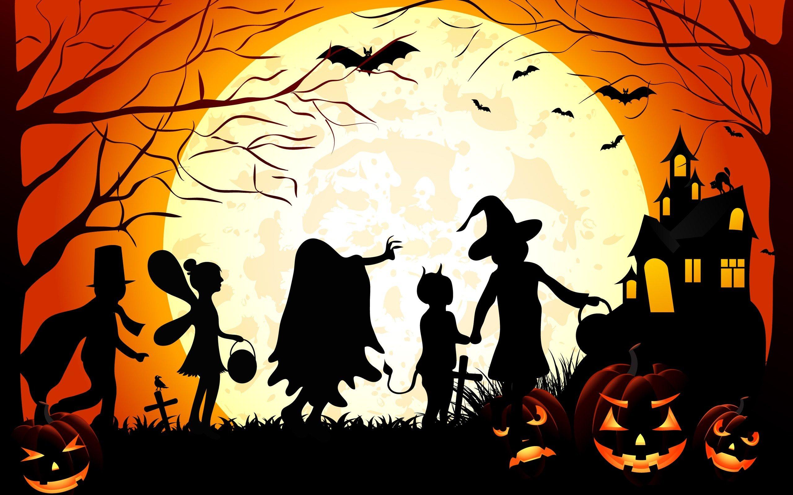 хэллоуин картинки на весь лист для мамы