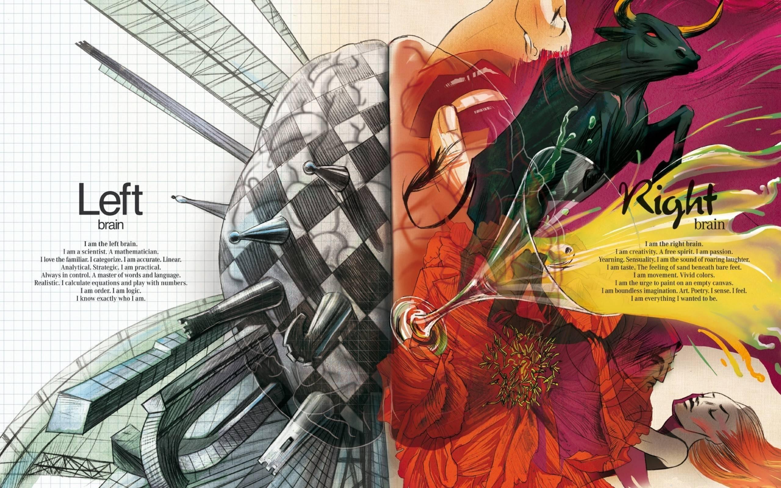 Wallpaper 2560x1600 Px Abstract Anatomy Artwork Brain Digital