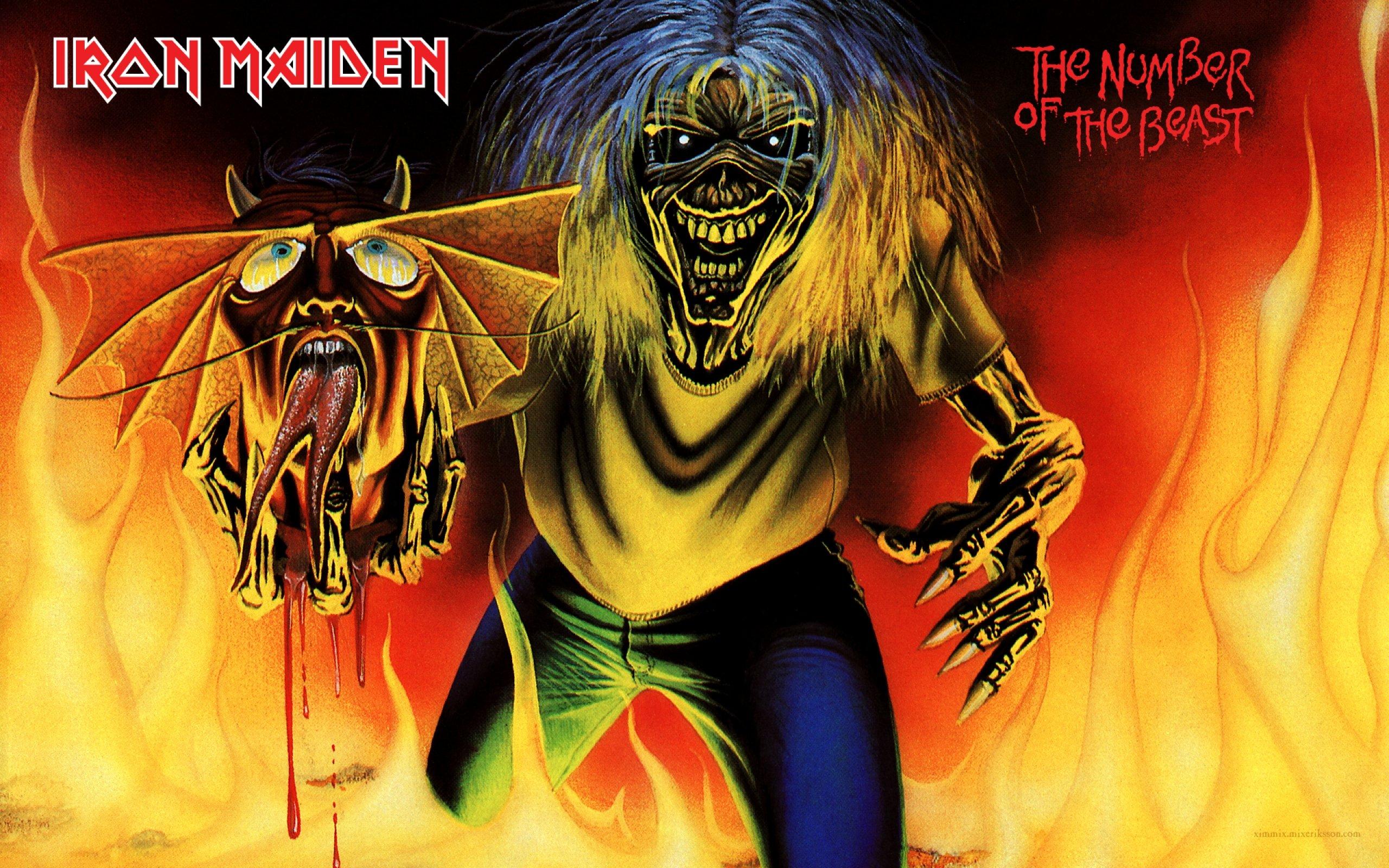 Wallpaper : 2560x1600 px, artwork, dark, Eddie, evil ...