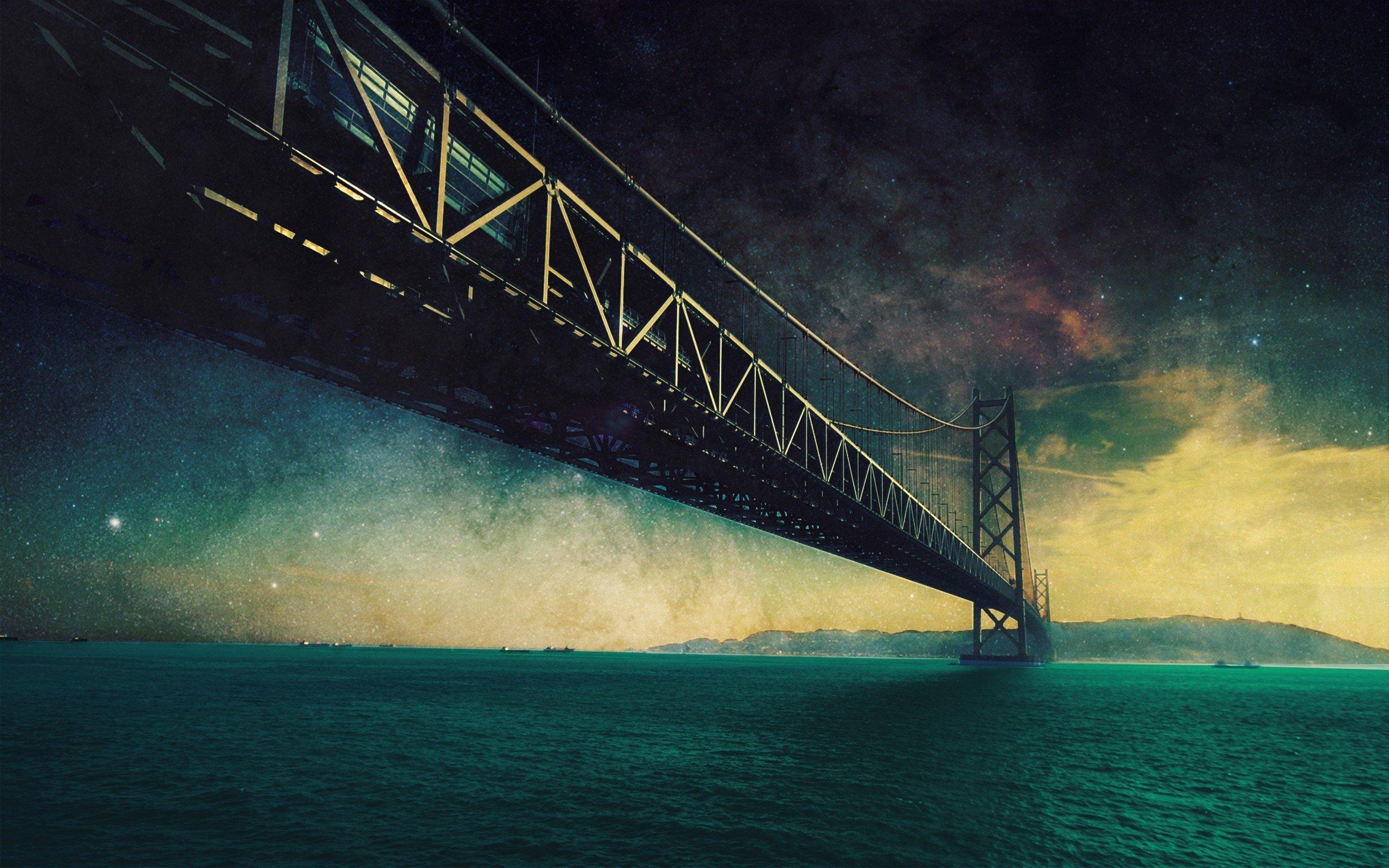 смысл моста на картинке хорошо заводится