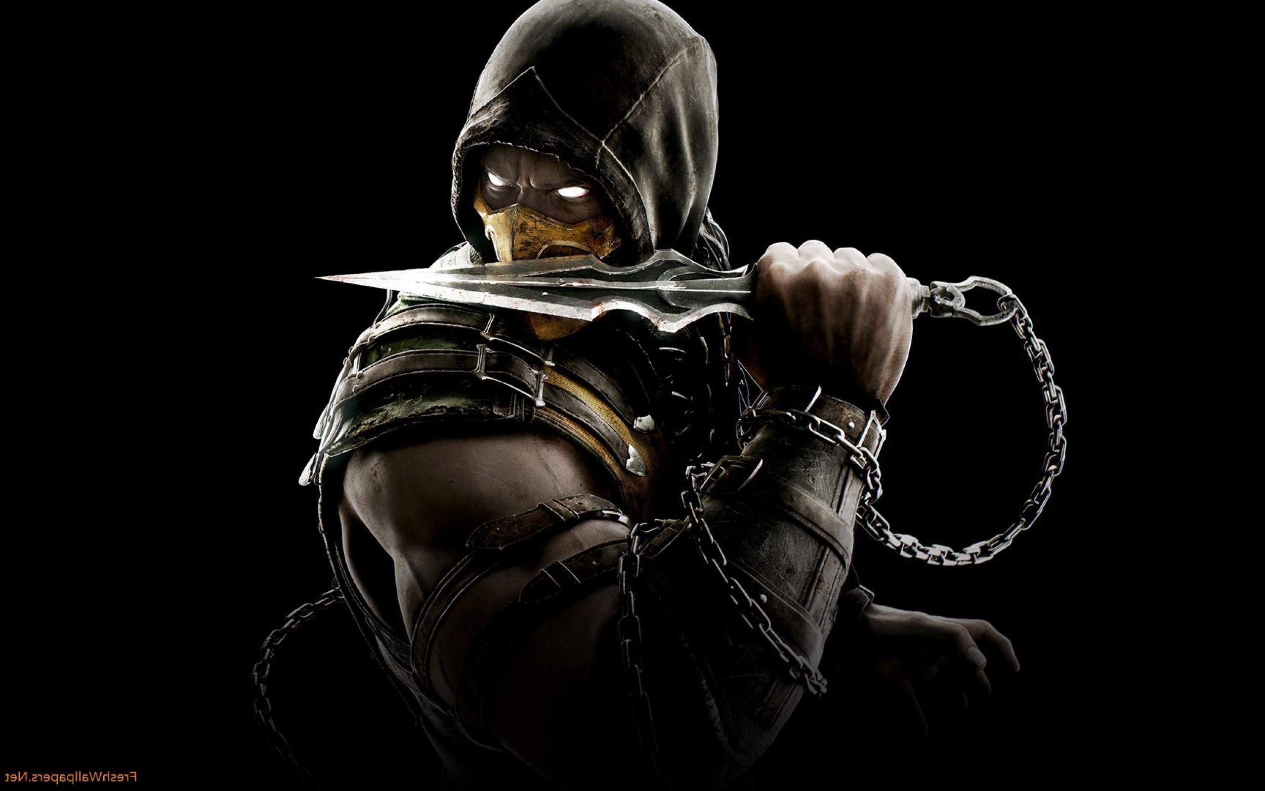 2560x1600 Px Chains Hoods Mortal Kombat X Scorpion Character Video Games