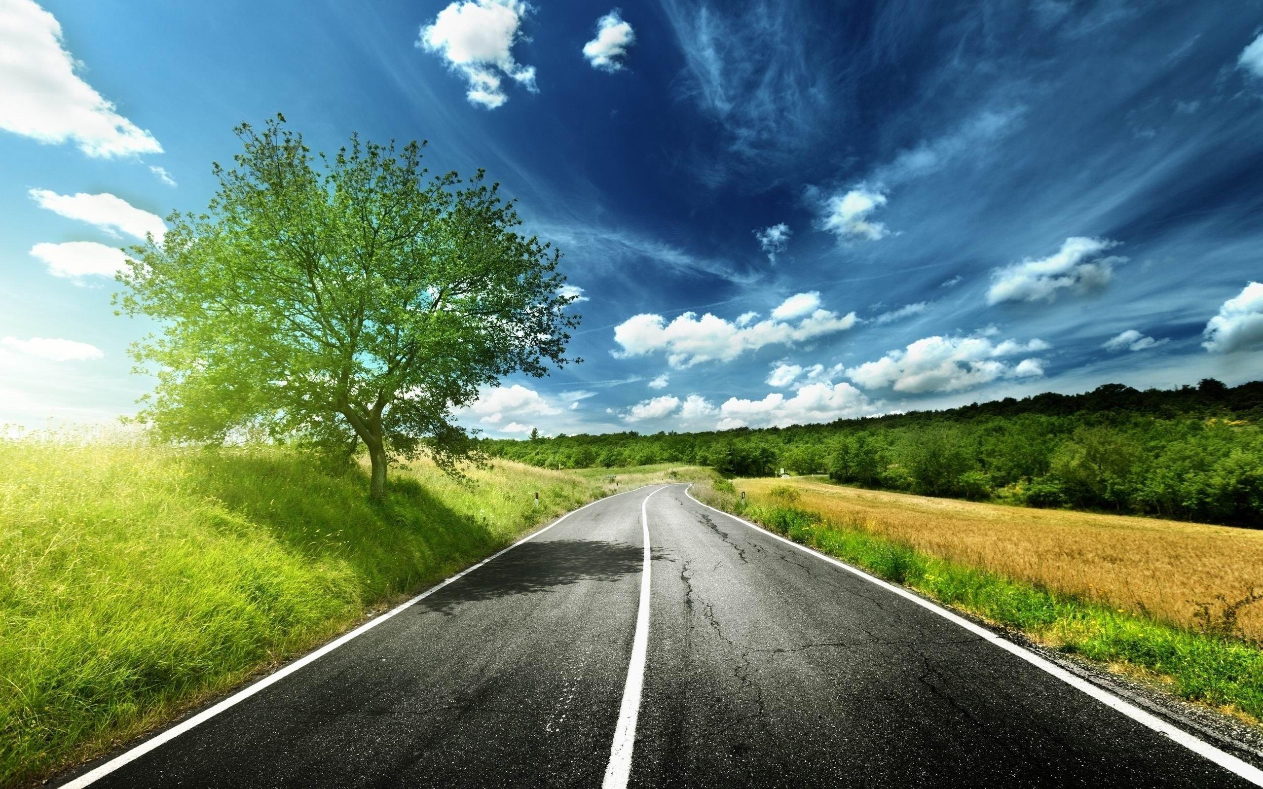 красивые картинками с дорогами начали