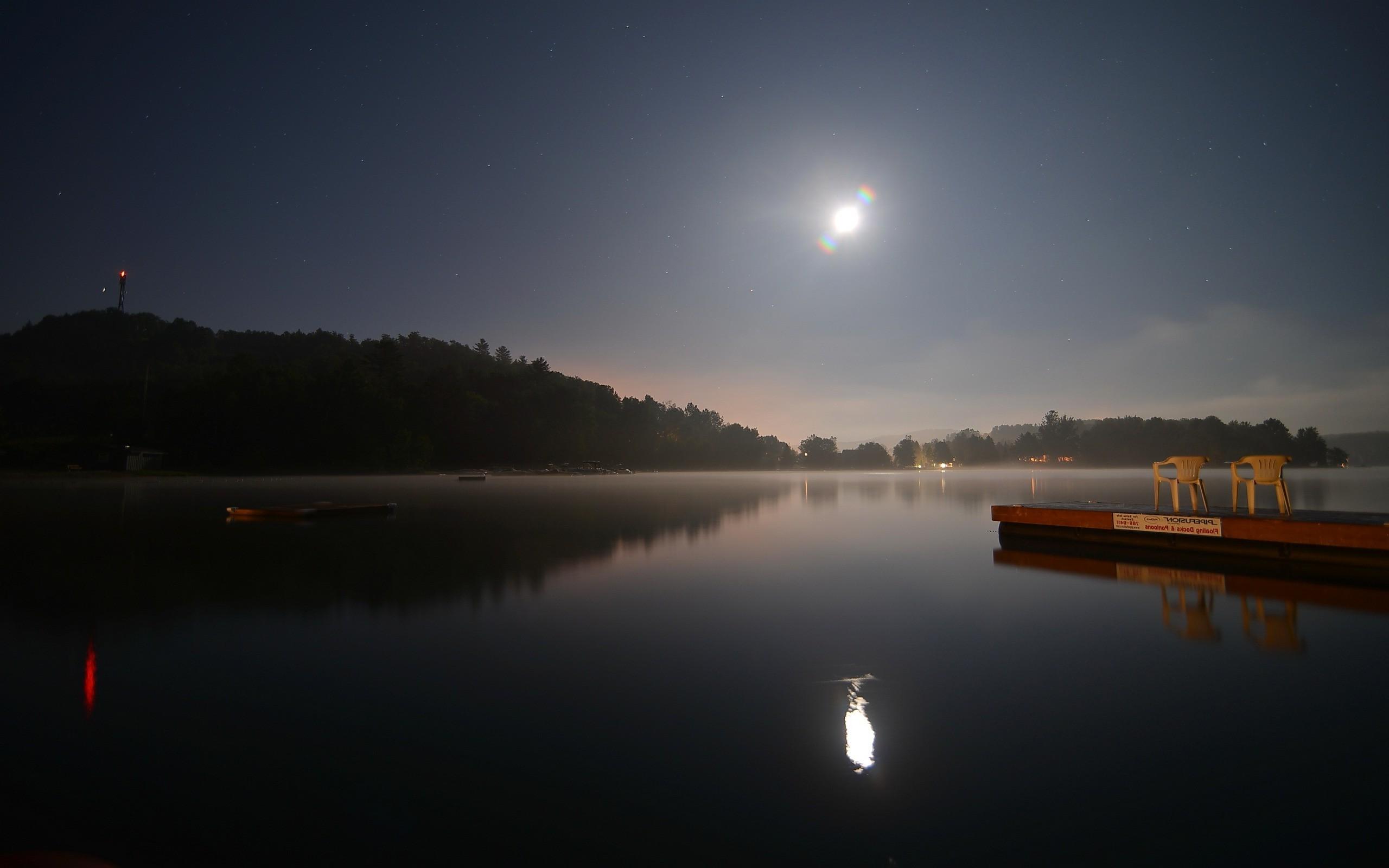 картинка ночной берег озера вам фото