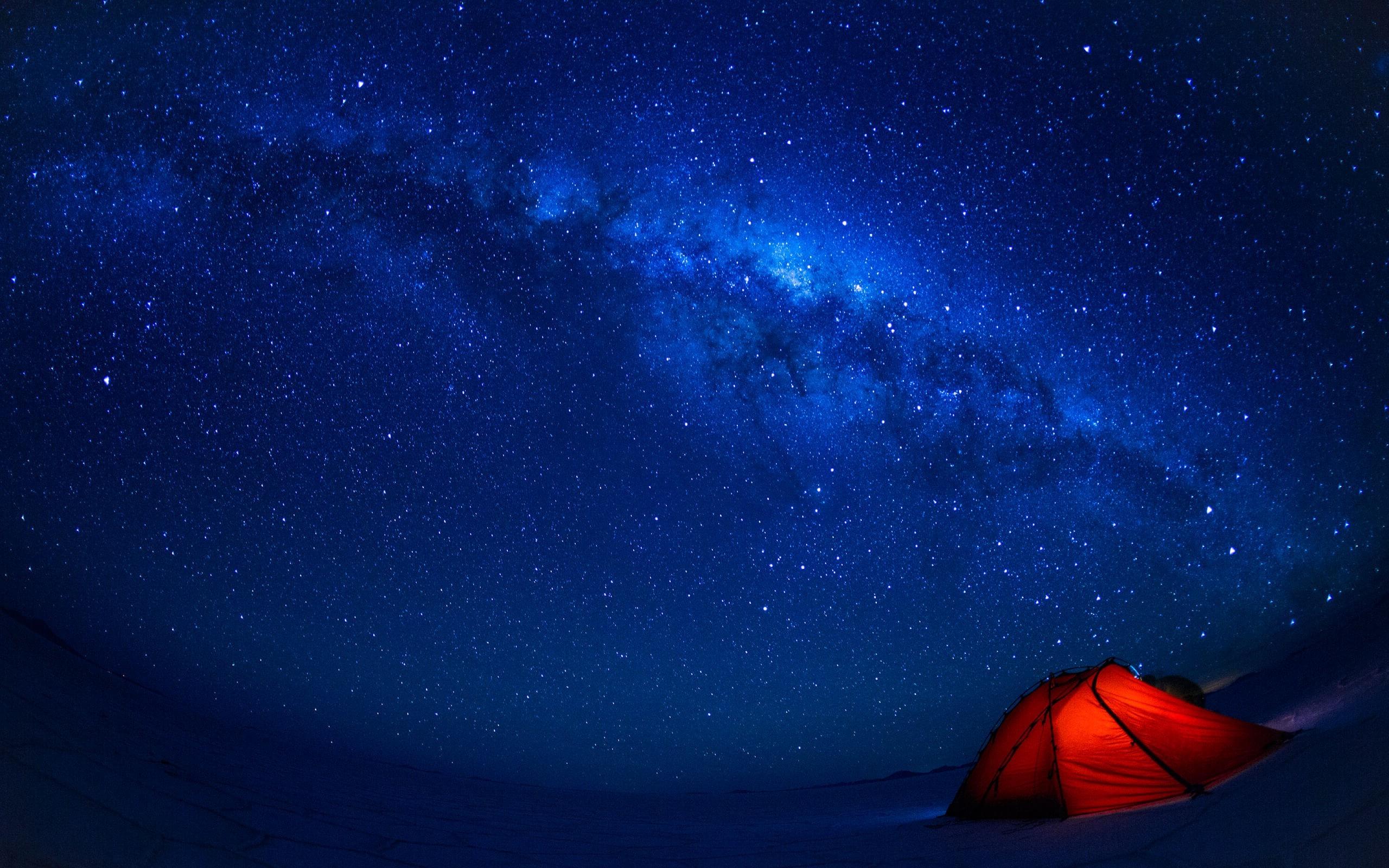 обои на рабочий стол палатка звездное небо