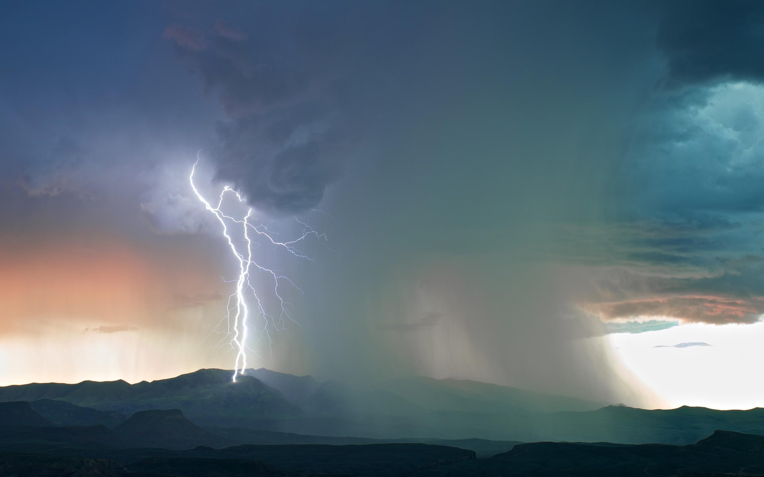 Wallpaper 2560x1600 Px Landscape Lightning Nature
