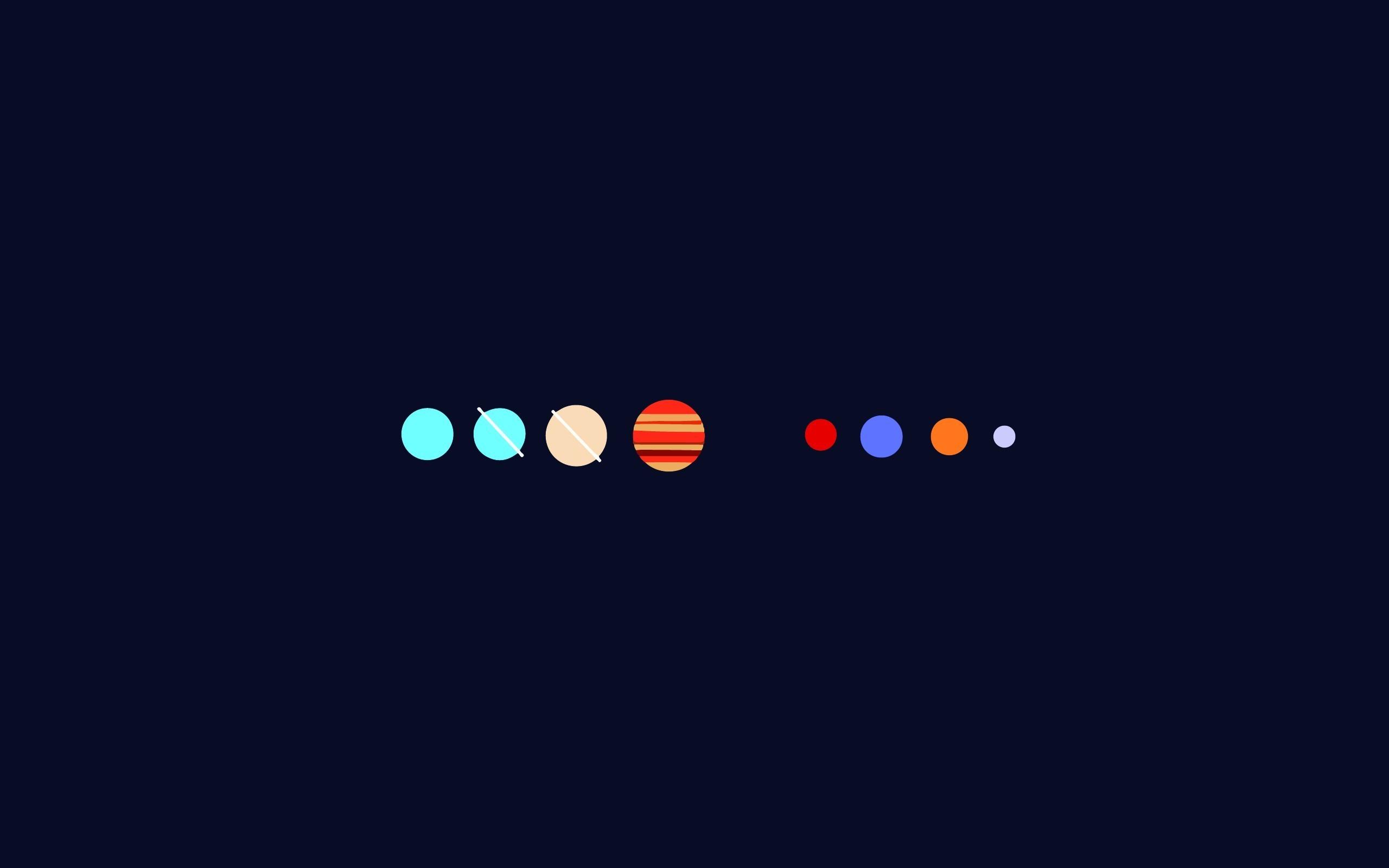 2560x1600 Px Minimalism Planet Solar System