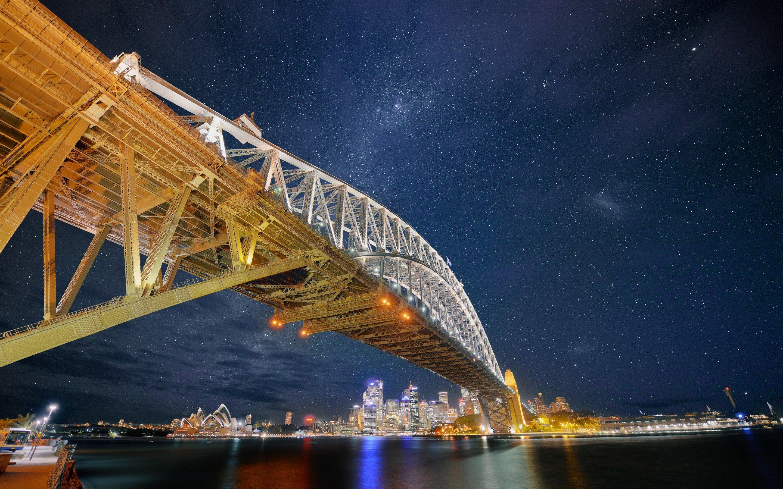 Wallpaper 2880x1800 px australia bridge cityscape night stars 2880x1800 px australia bridge cityscape night stars sydney sydney harbour bridge altavistaventures Choice Image