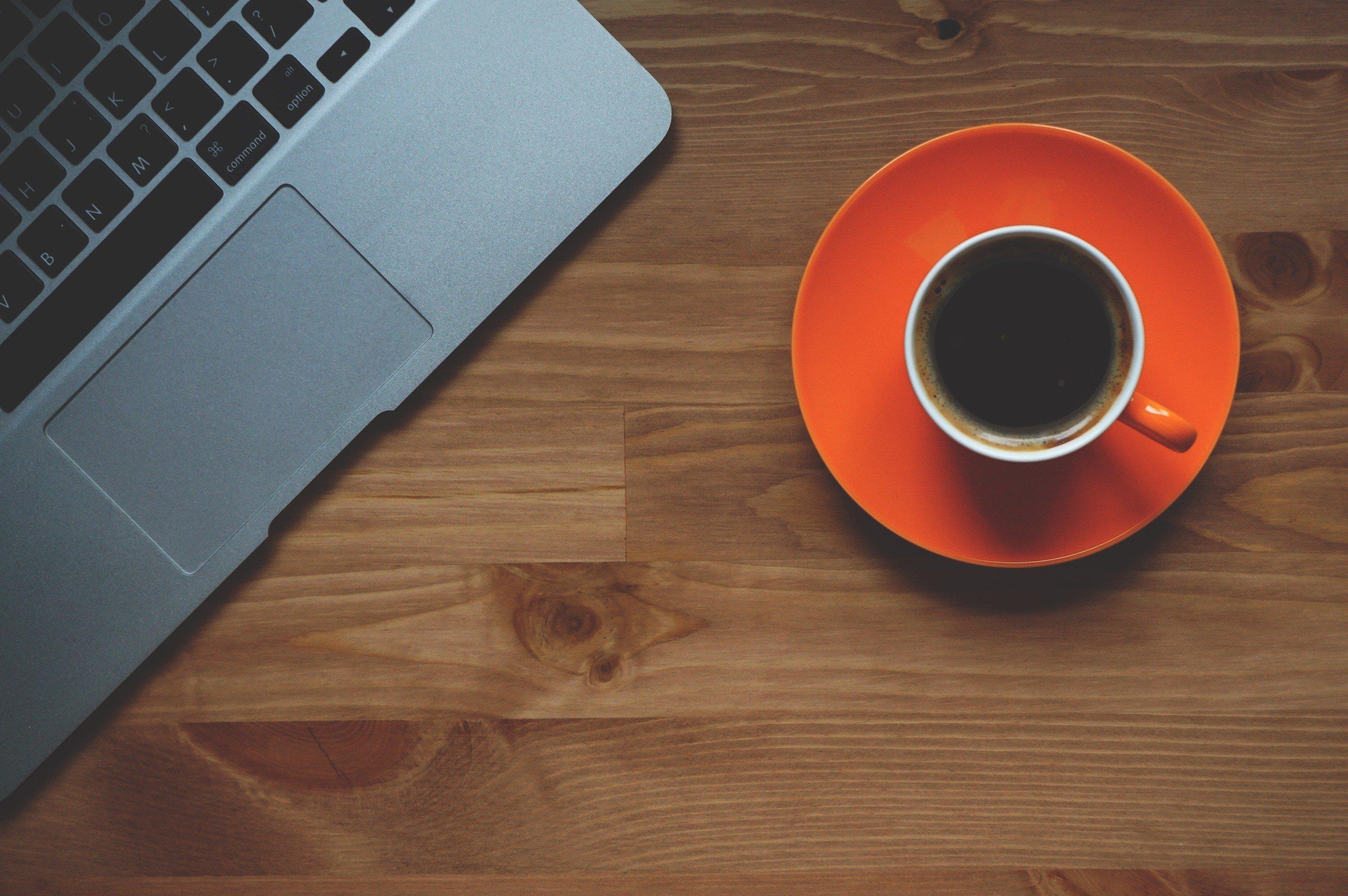 Wallpaper 3008x2000 Px Coffee Cup Freelance Laptop Minimalism
