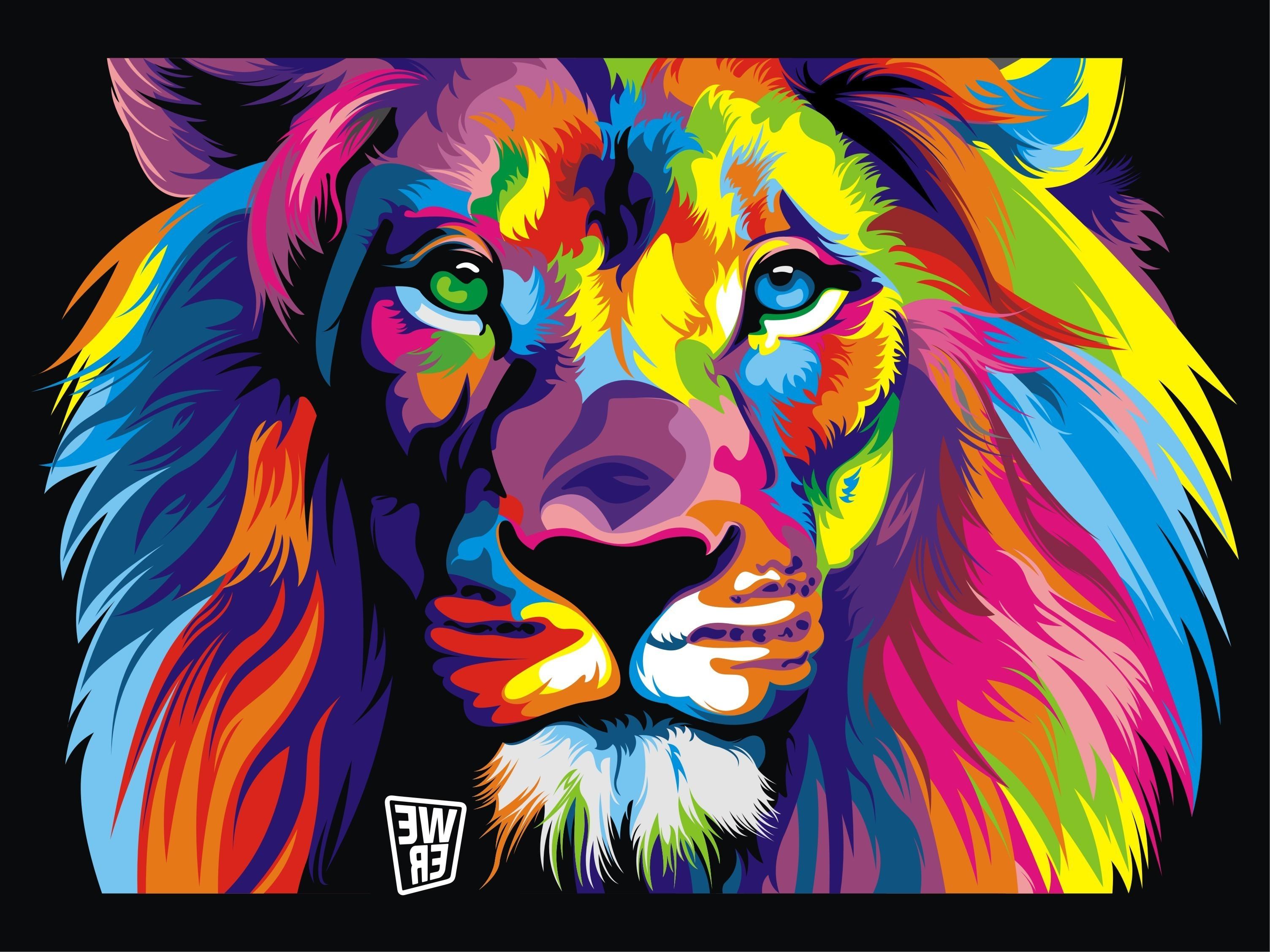 Sfondi 3008x2256 px animali opera d 39 arte sfondo nero for Sfondi leone