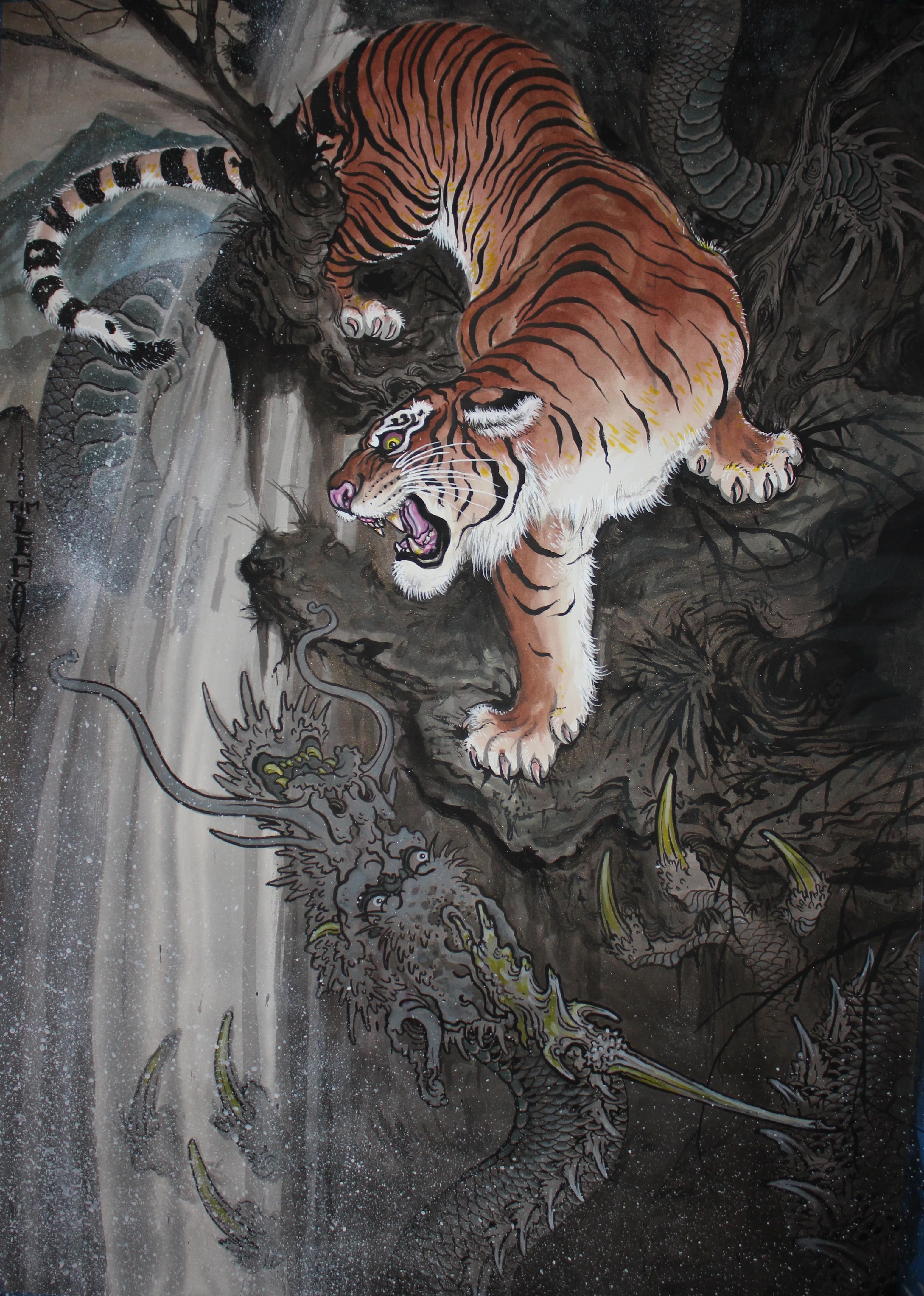 невероятно фотки дракон и тигр части мужчина передал