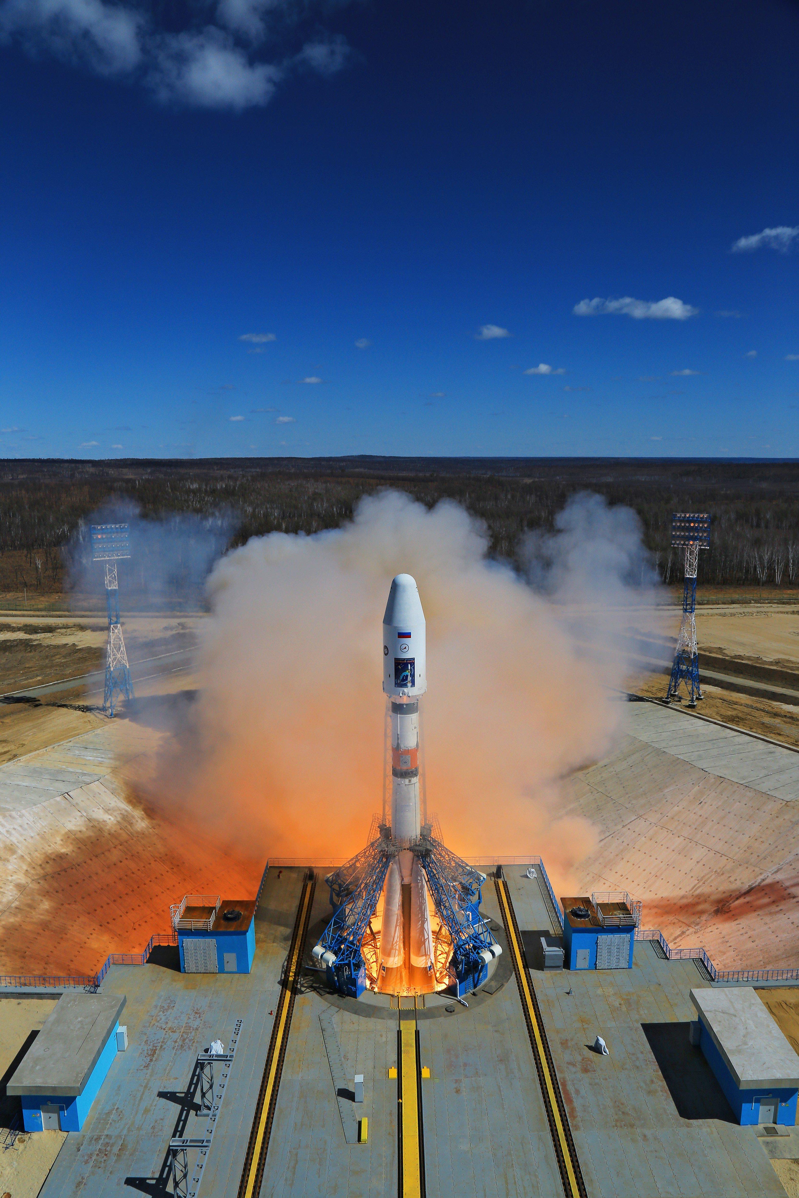 Картинка космодром без ракеты