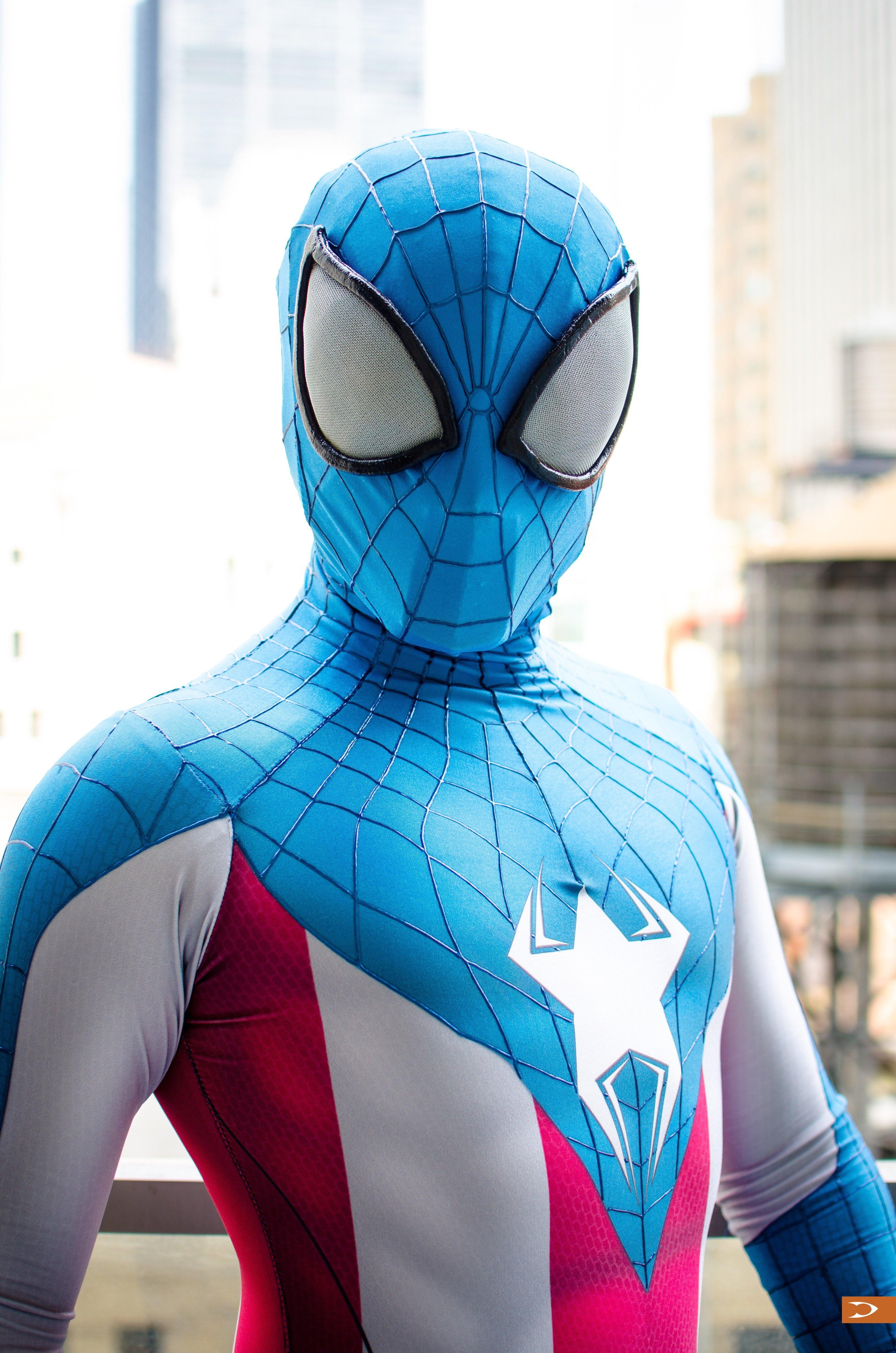 Человек паук синий картинки