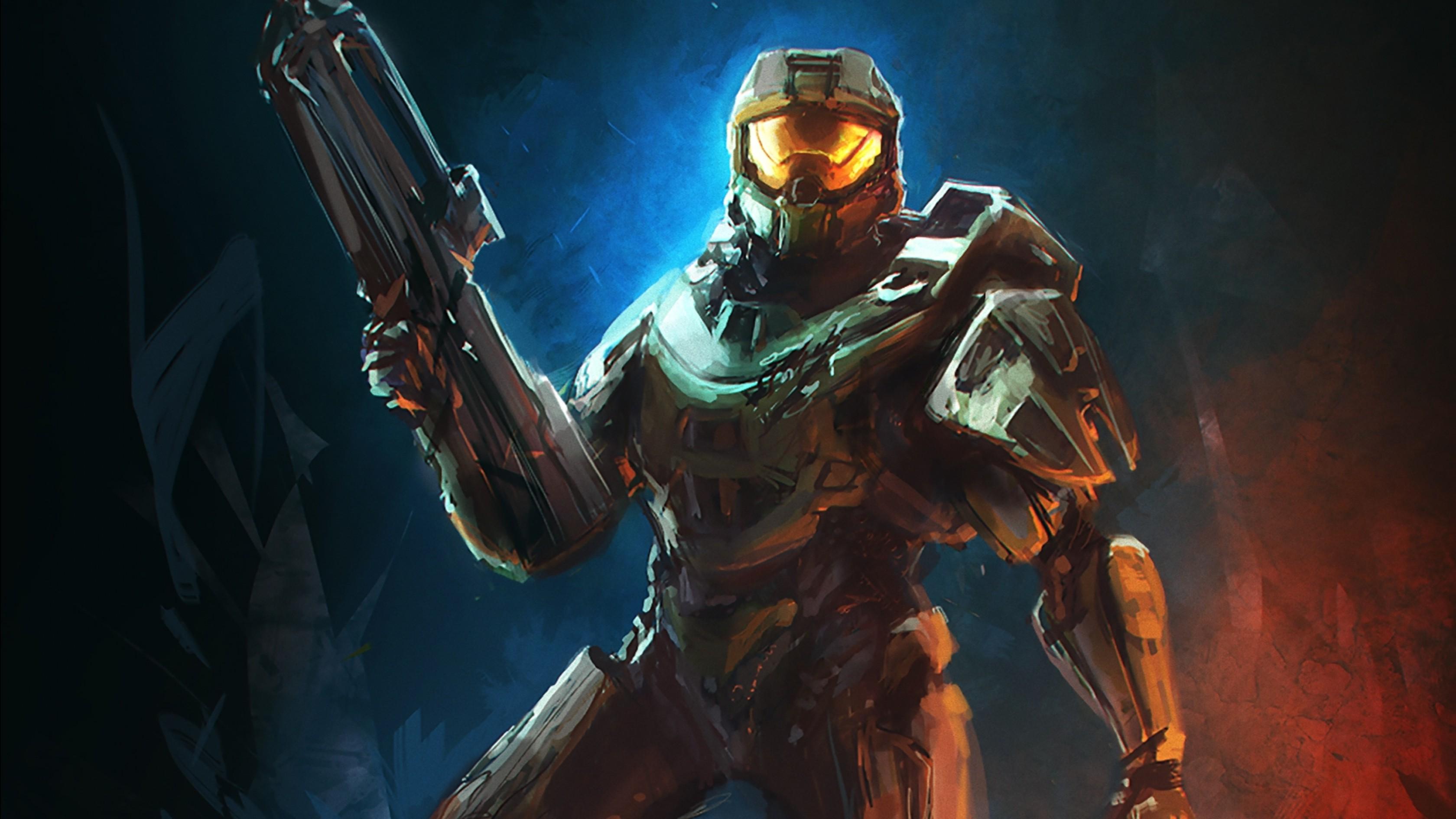 Wallpaper 3360x1890 Px Artwork Halo 4 Halo Master Chief