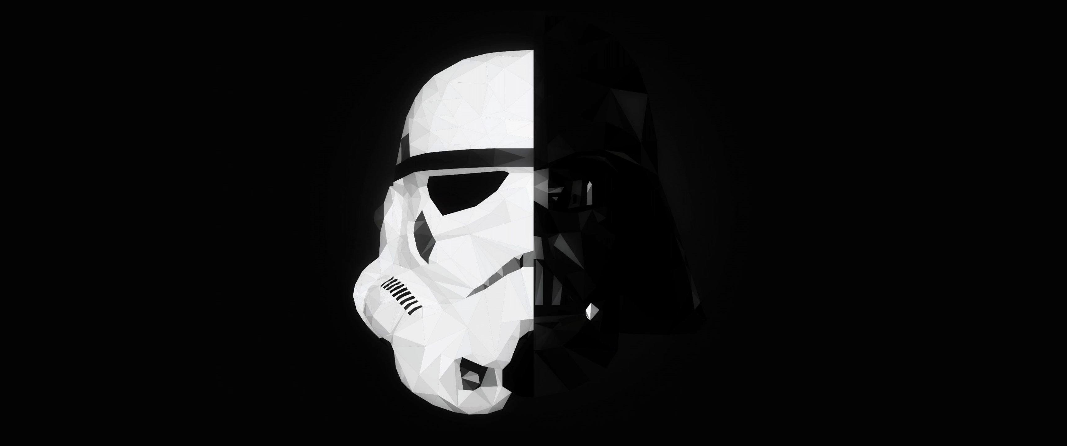 Wallpaper 3440x1440 Px Darth Vader Mask Minimalism Splitting Star Wars Stormtrooper 3440x1440 1102533 Hd Wallpapers Wallhere