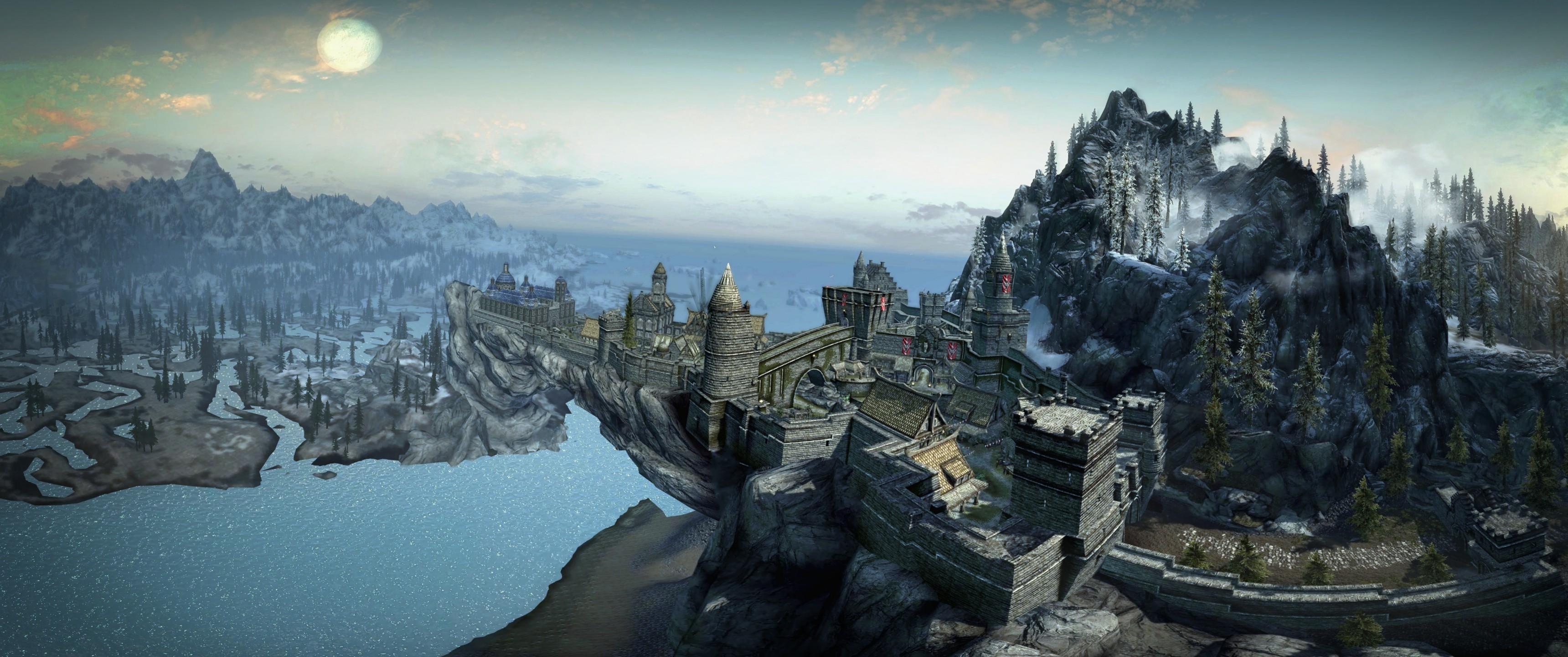Wallpaper : 3440x1440 px, The Elder Scrolls V Skyrim ...