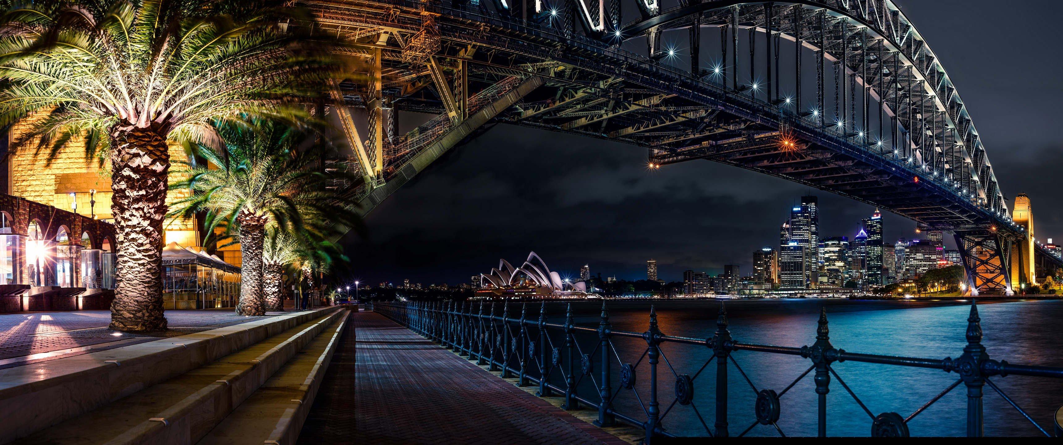 Wallpaper : 3440x1440 px, skyline, Sydney, ultrawide ...