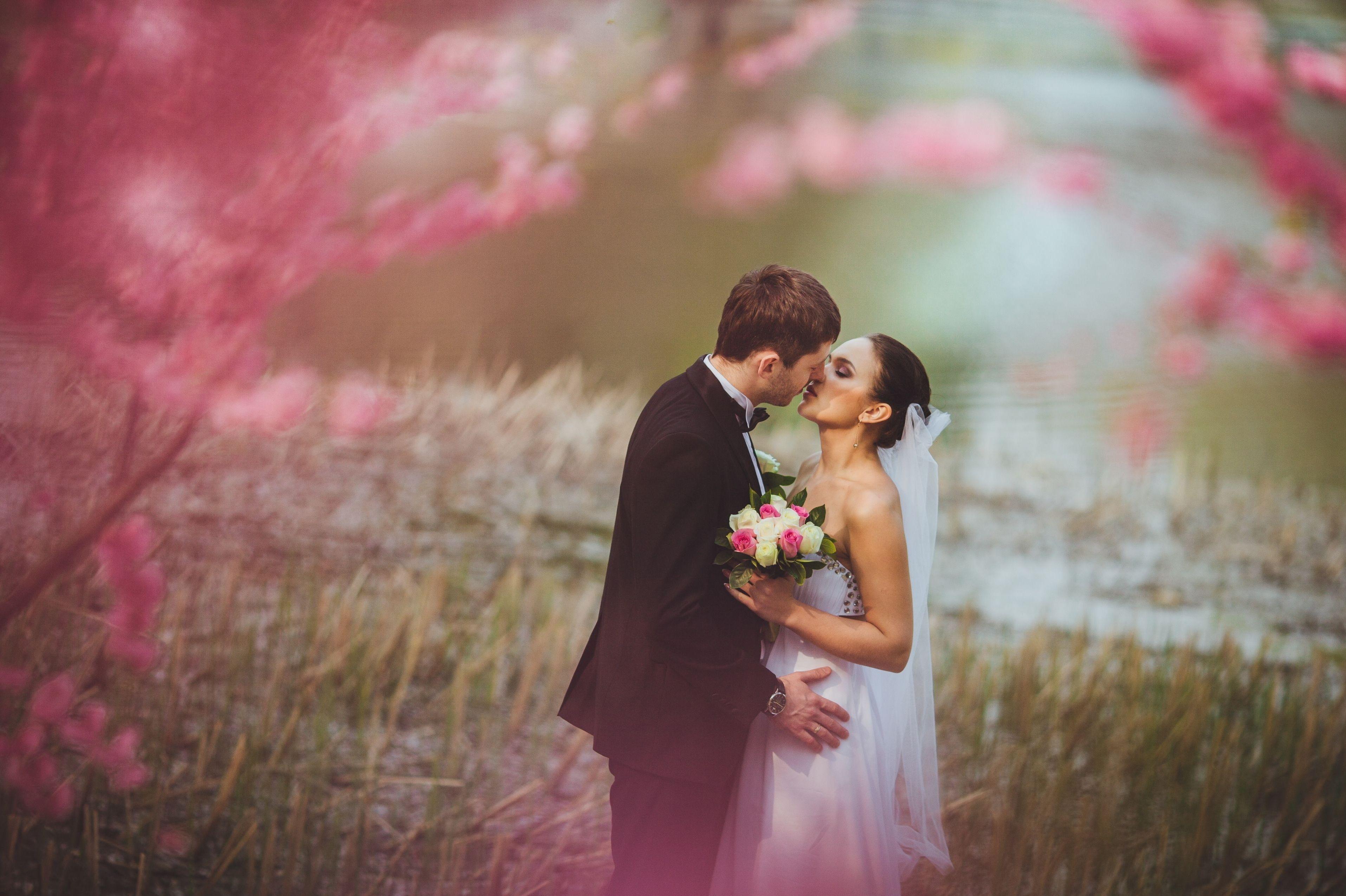 Wallpaper 3830x2550 Px Bride Girl Gown Kiss Love Man Mood