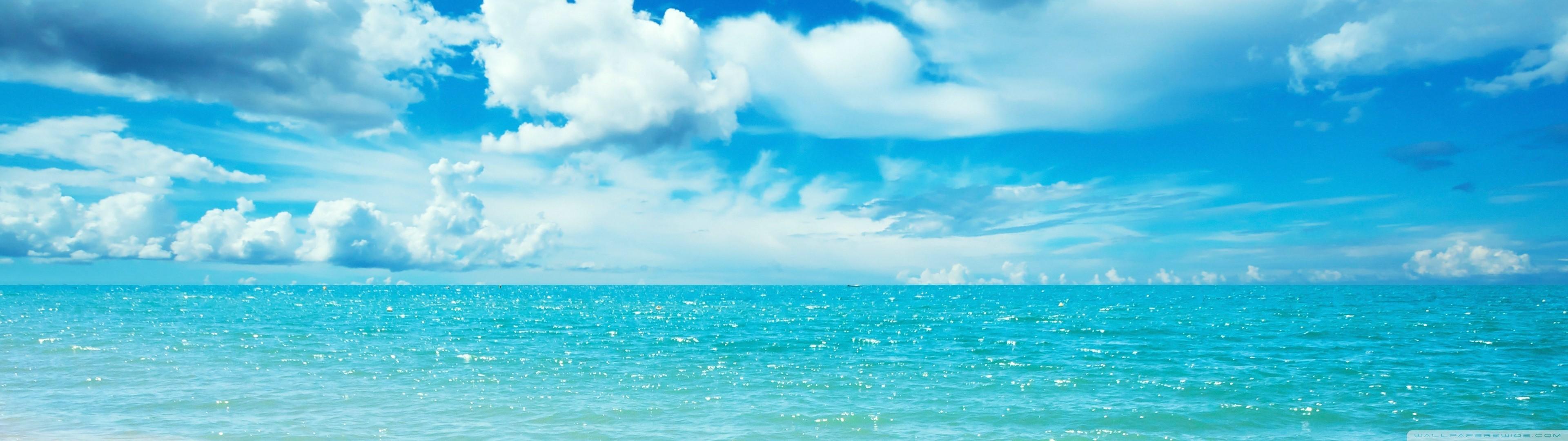 デスクトップ壁紙 3840x1080 Px 雲 マルチディスプレイ 空 水