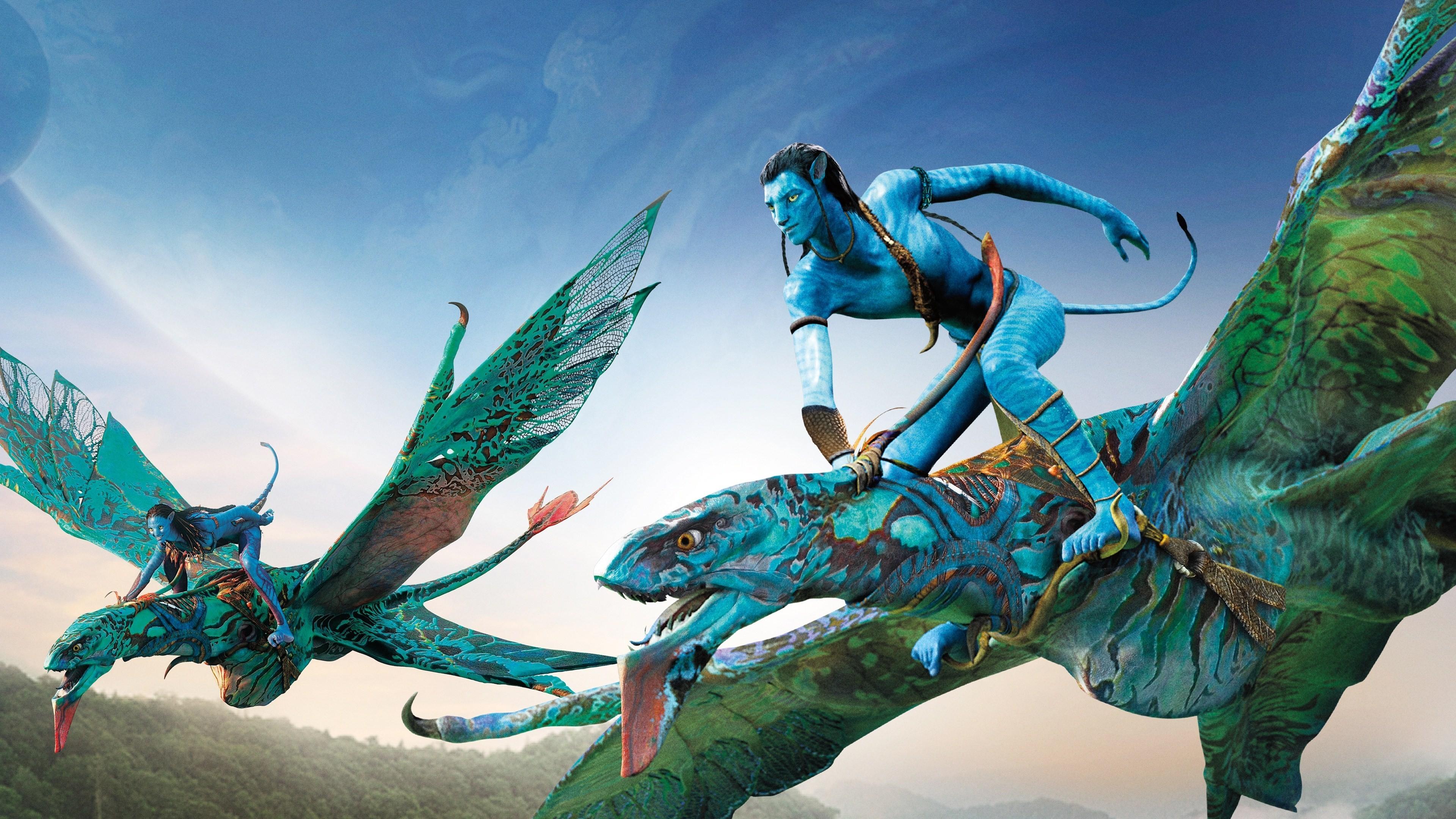 Fond Décran 3840x2160 Px 3d Avatar Jake Sully Neytiri