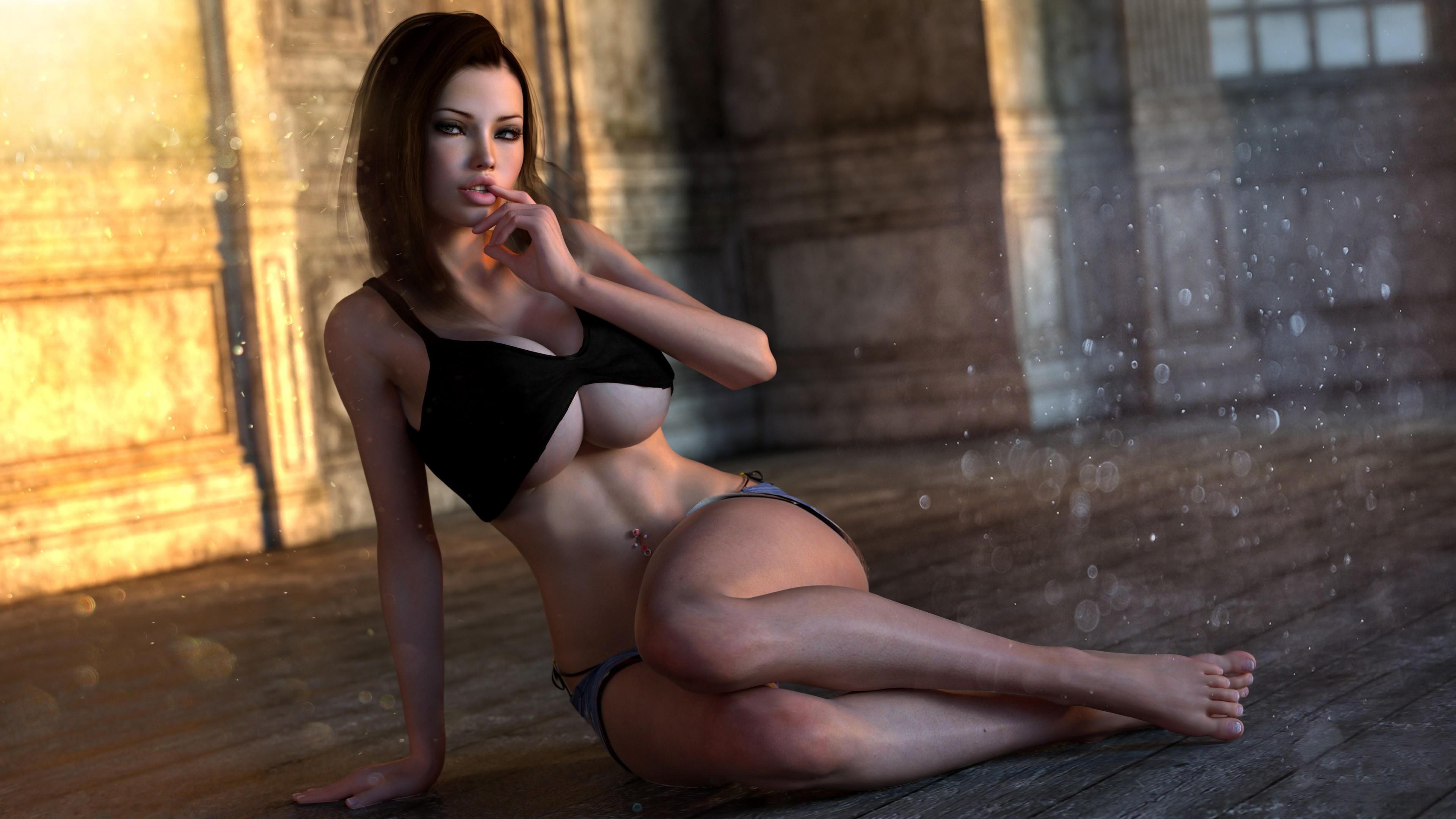Big tits3d nude pornostar