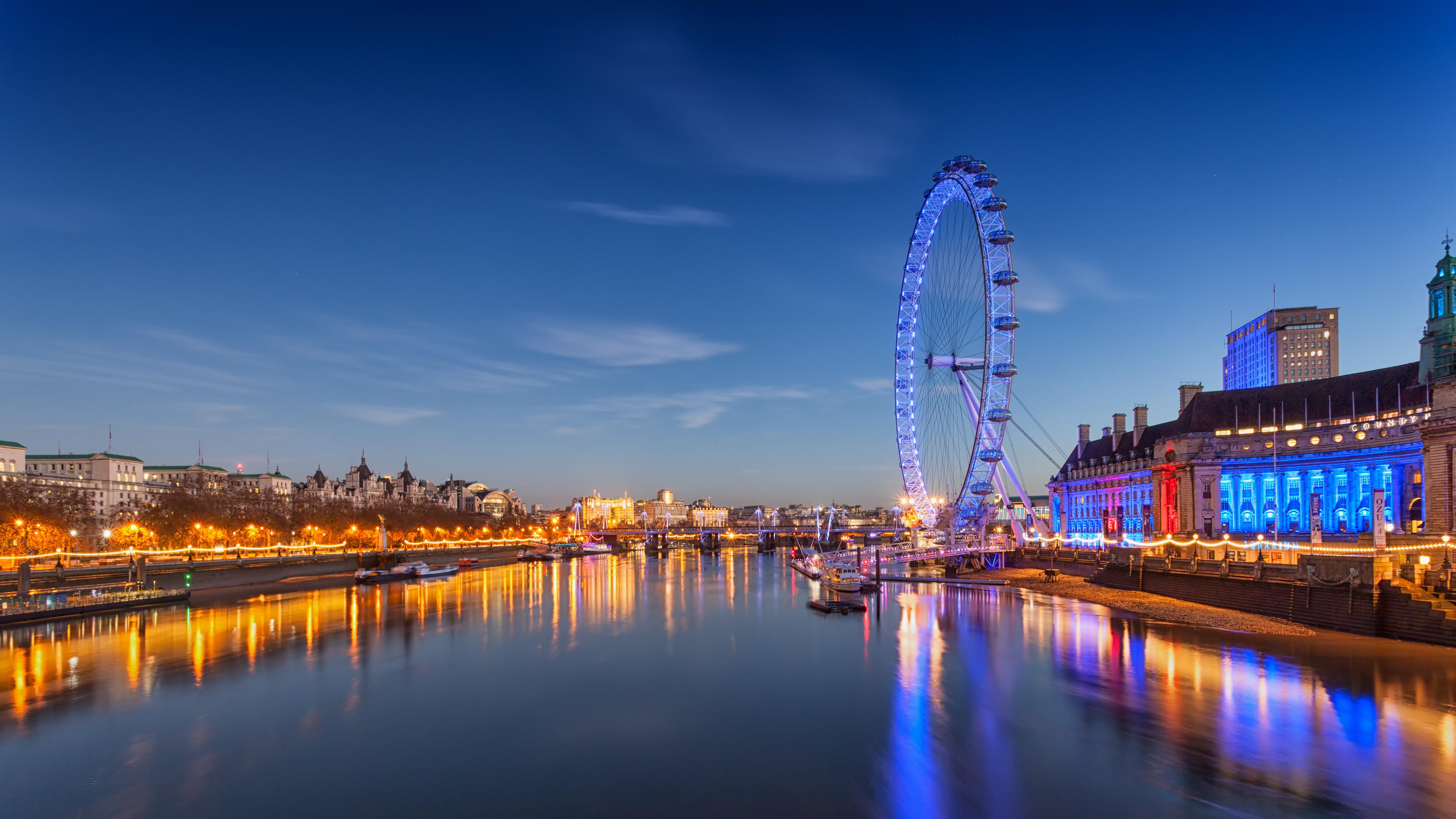 デスクトップ壁紙 3840x2160 Px 4k 眼 湖 風景 ロンドン 自然