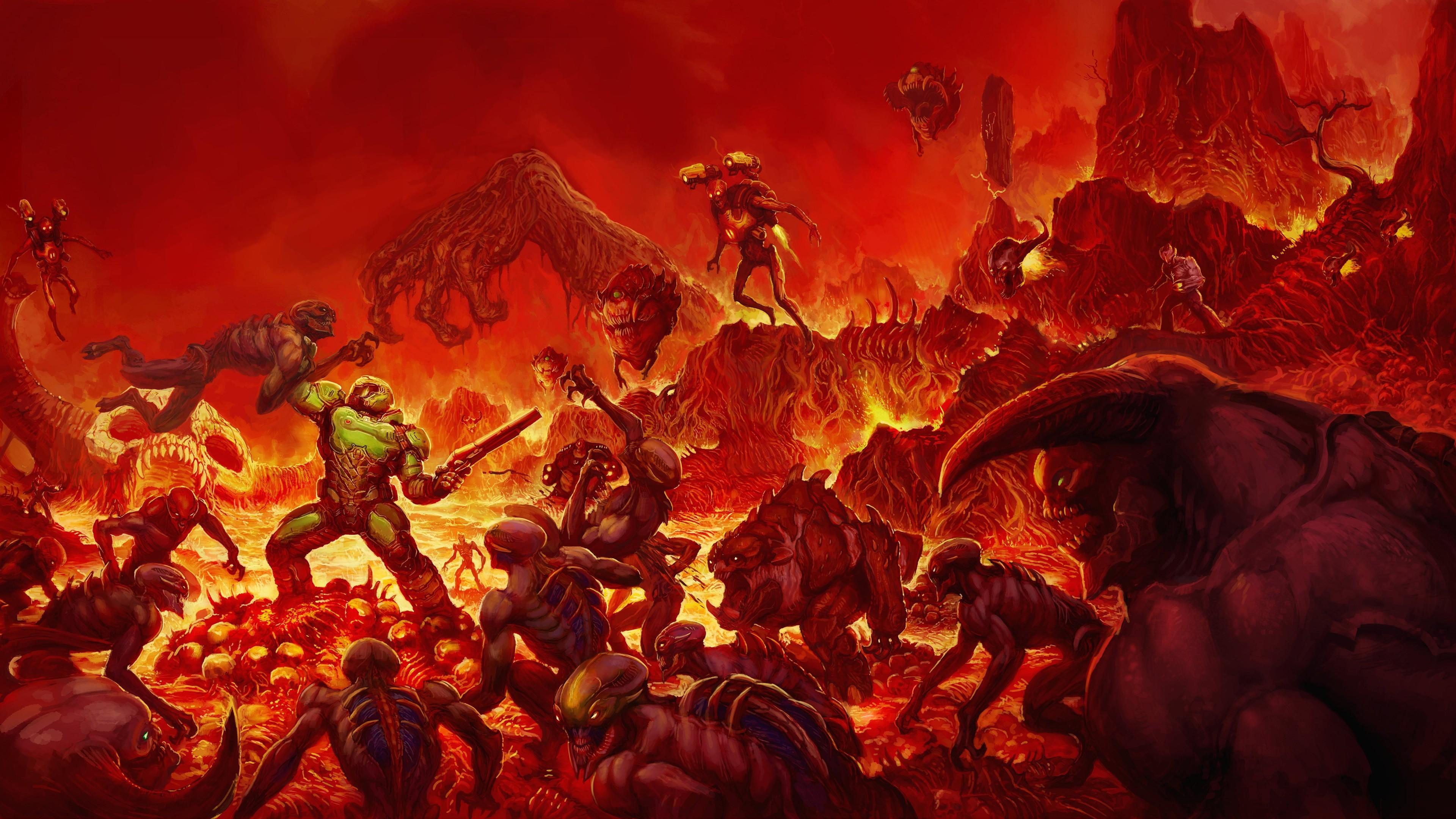 Wallpaper : 3840x2160 px, Bethesda Softworks, demon, Doom