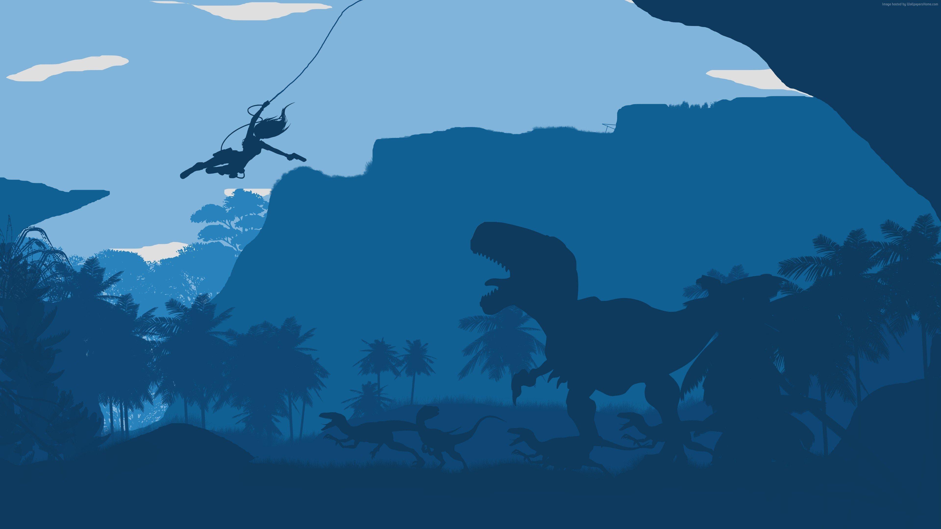 Wallpaper 3840x2160 Px Flatdesign Symbols Tomb Raider