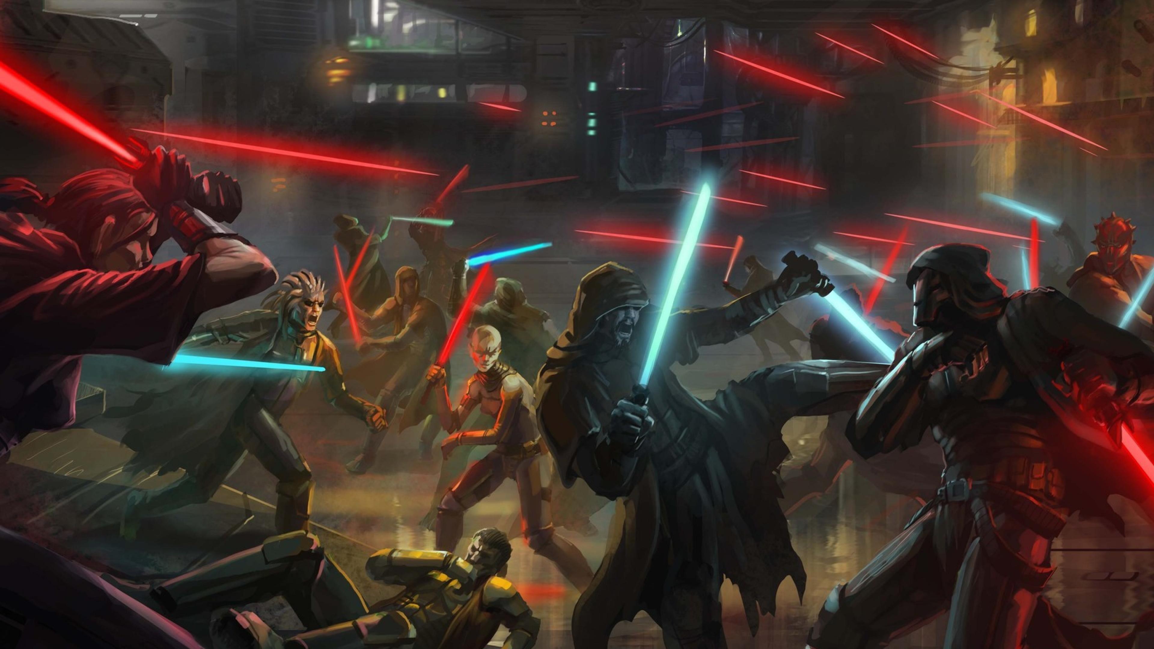 Wallpaper 3840x2160 Px Jedi Sith Star Wars Star Wars Knights