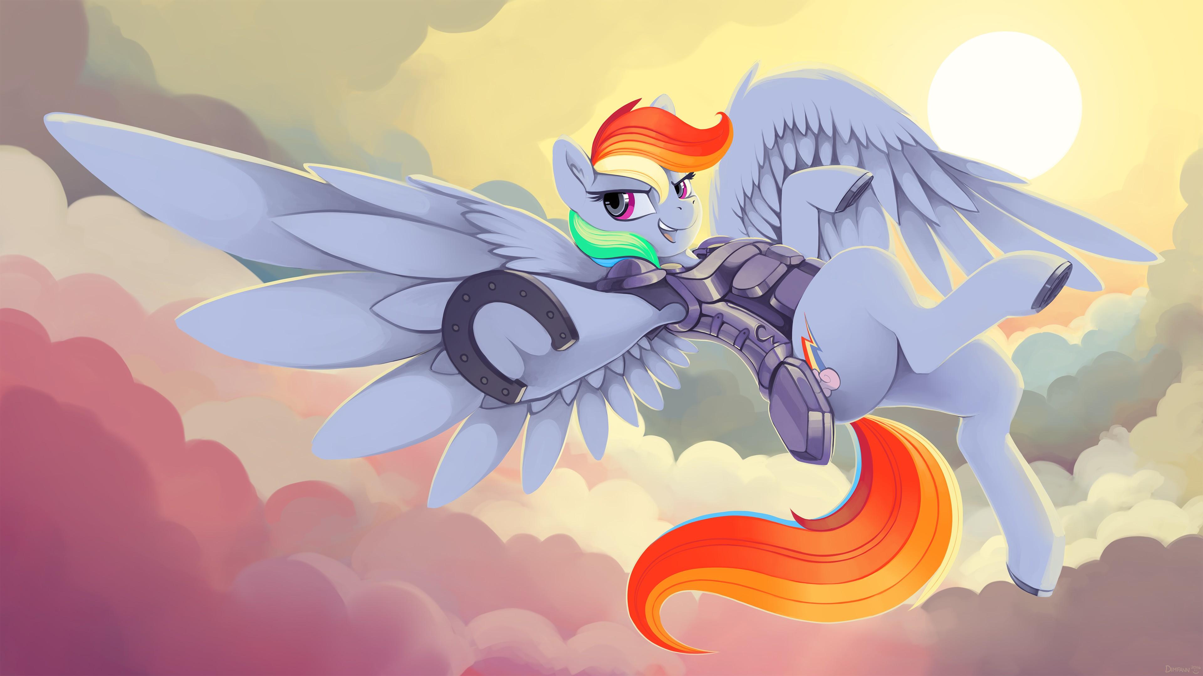 Wallpaper 3840x2160 Px Armor Mlp Fim My Little Pony Rainbow