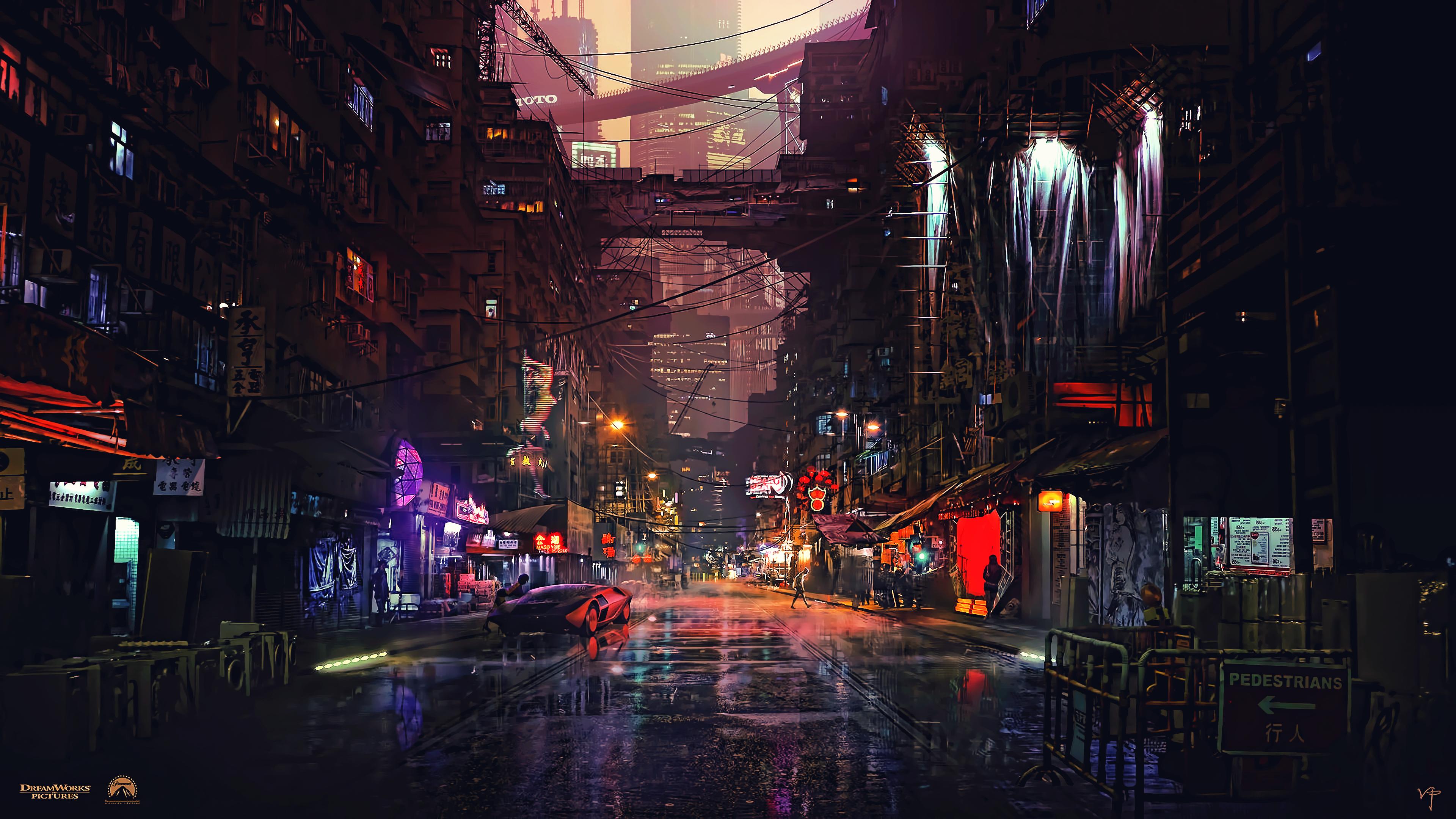 Cyberpunk 2077 City Wallpaper: Wallpaper : 3840x2160 Px, Artwork, Cyber, Cyberpunk