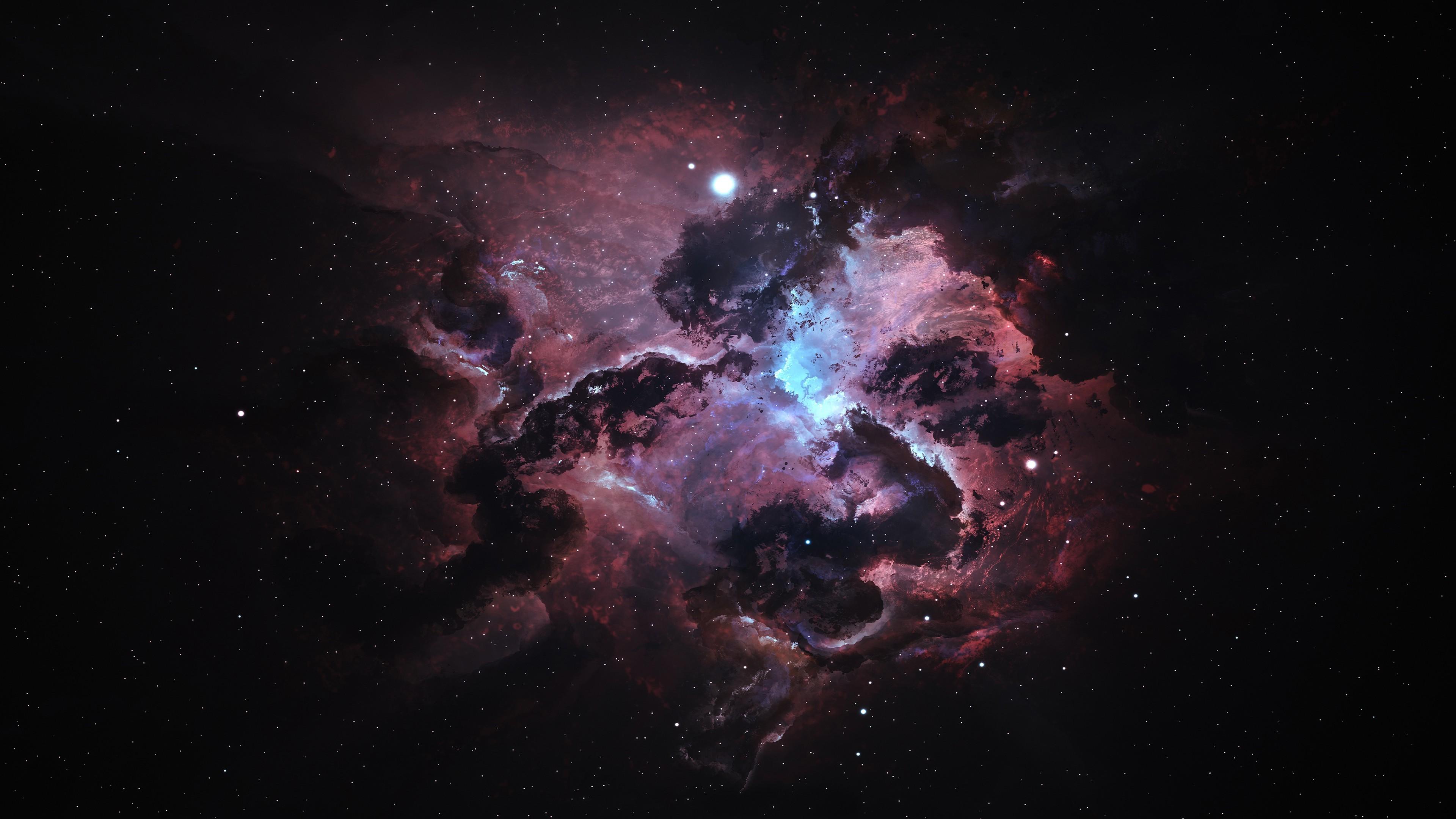 3840x2160 Px Artwork Digital Art Galaxy Nebula Space Stars